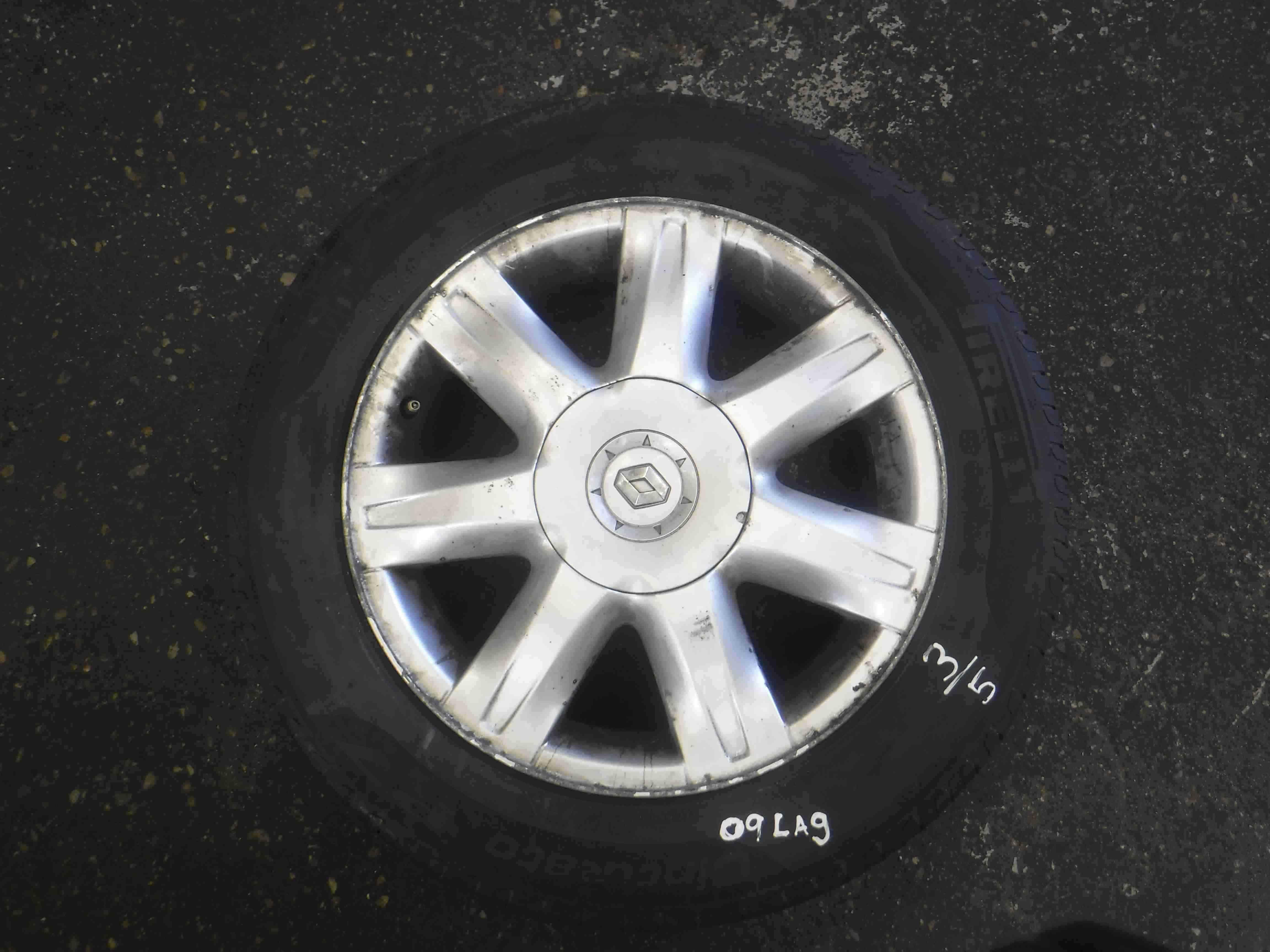 Renault Laguna 2007-2010 Paradise Alloy Wheel Single 3/5 4mm 403000035r