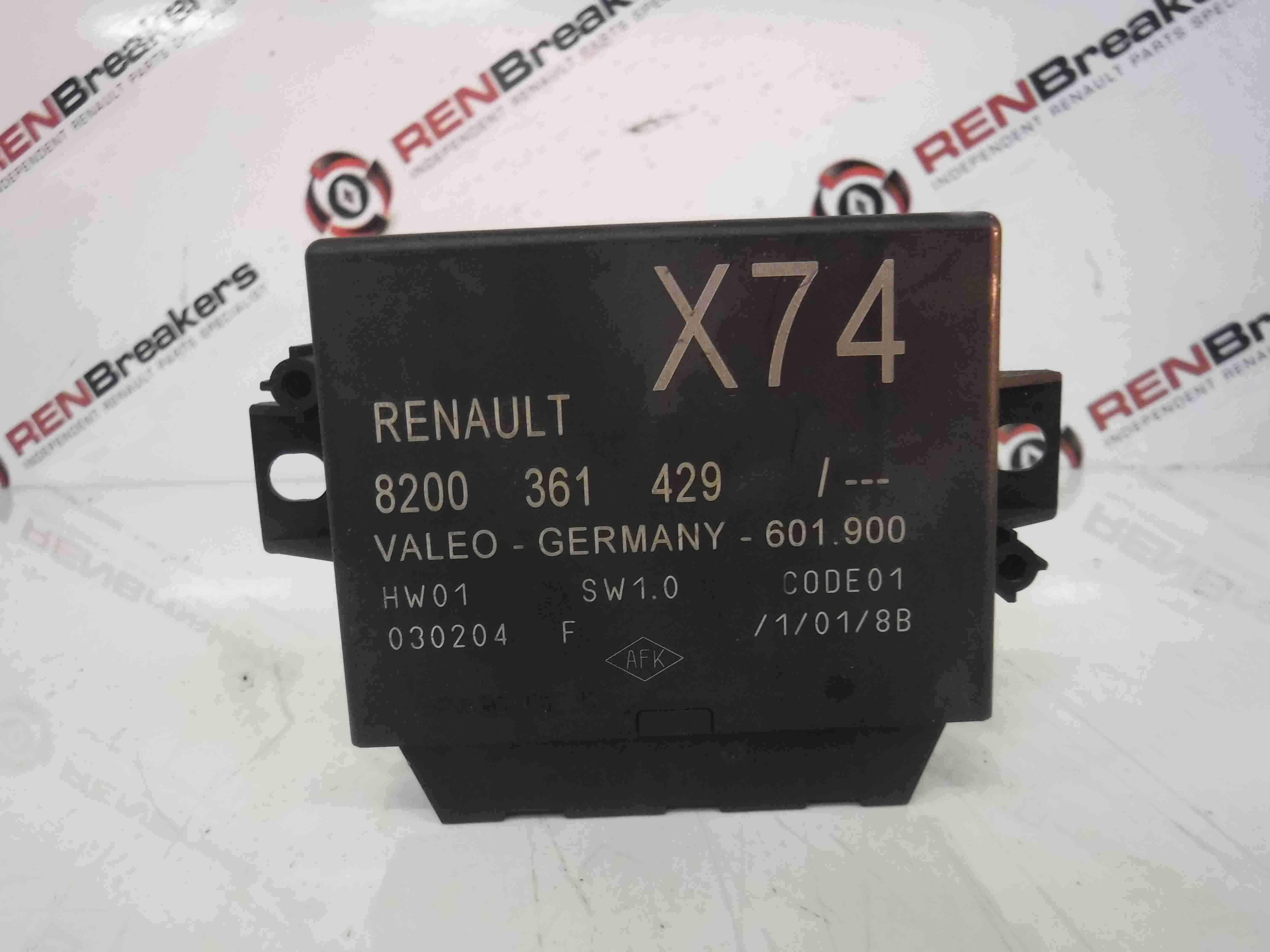 Renault Laguna Espace 2001-2005 Parking Distance Control Module ECU 8200361429