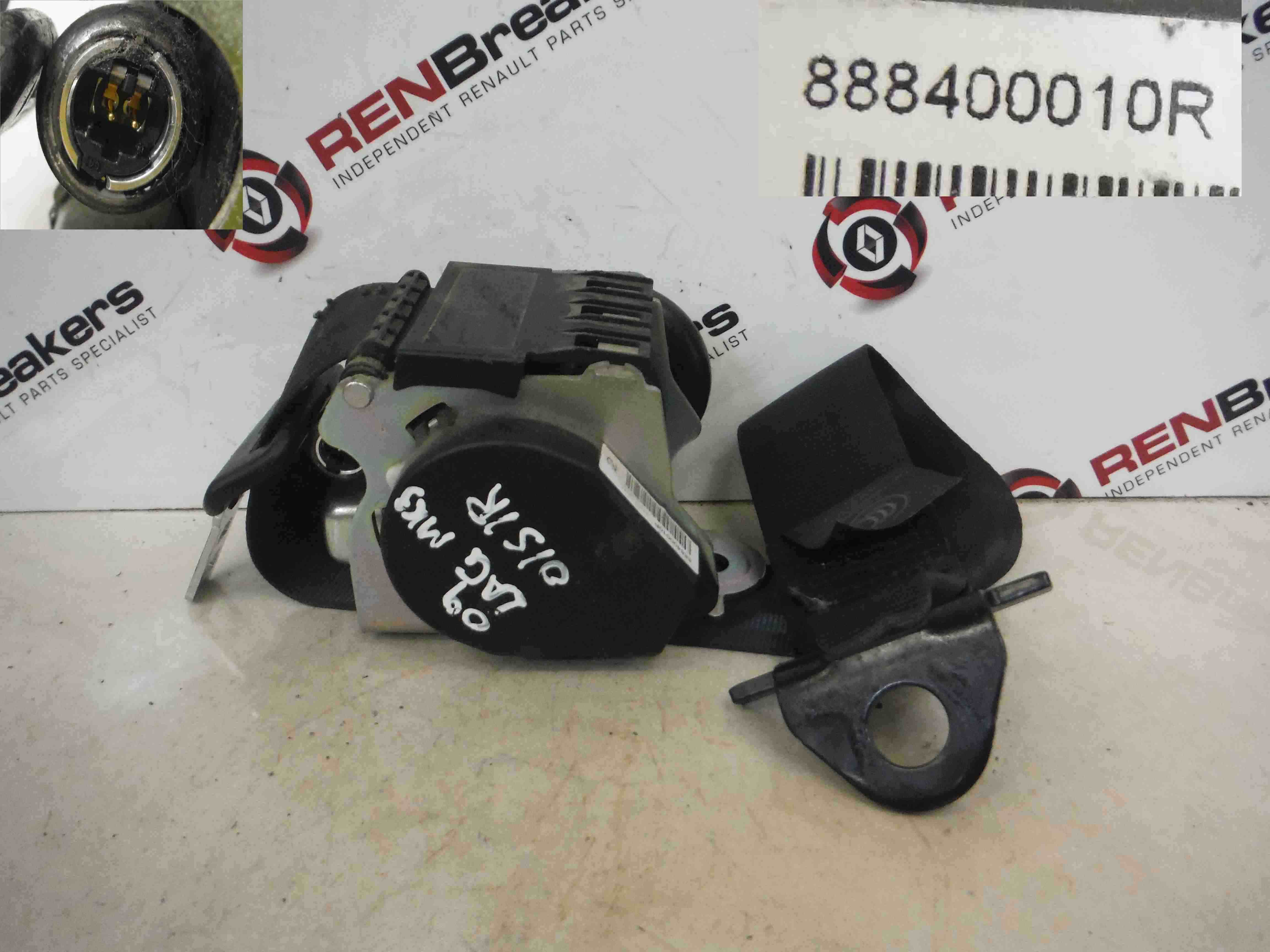 Renault Laguna Estate 2007-2012 Drivers OSR Rear Seat Belt + Pretensioner