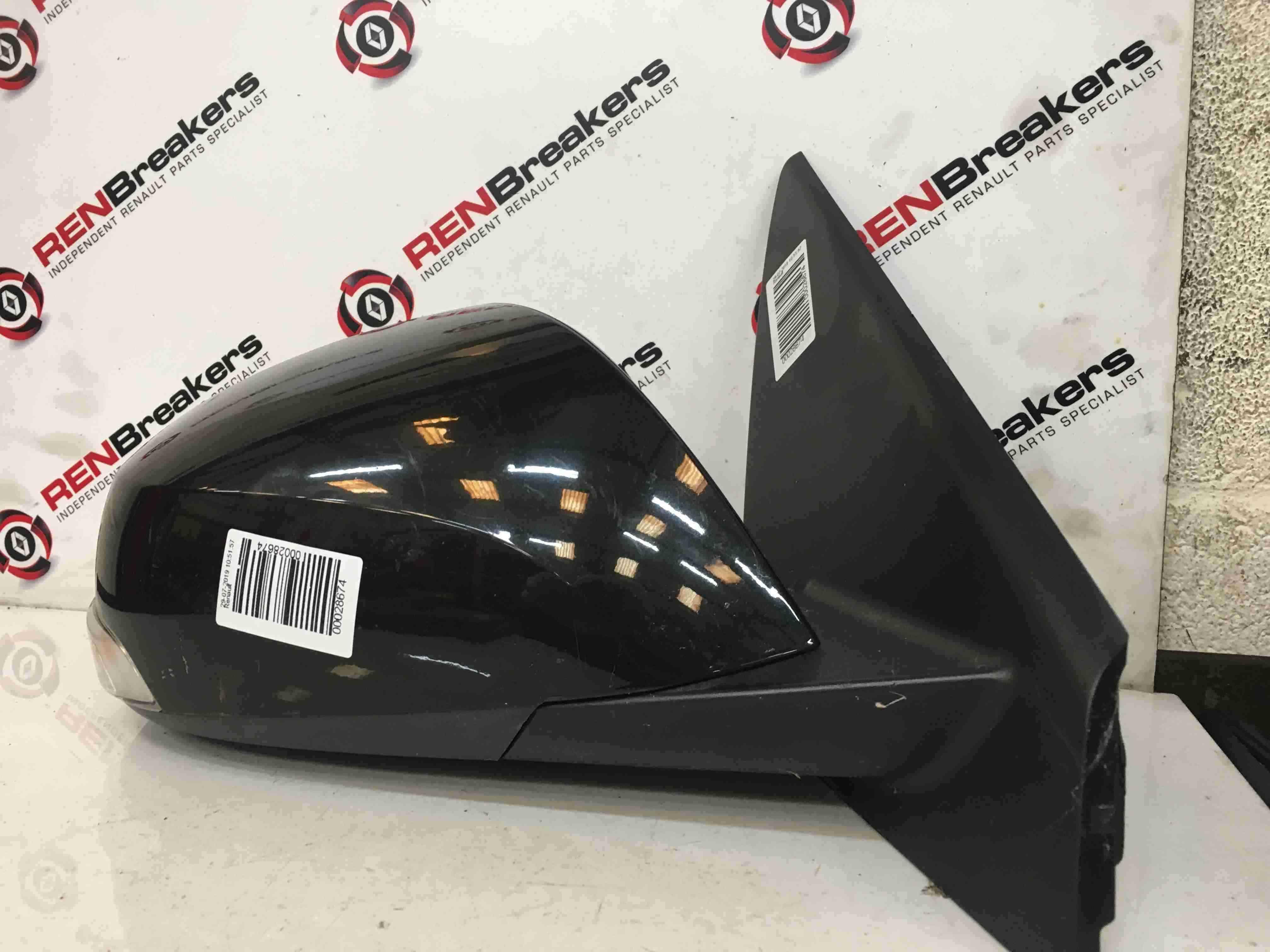 Renault Laguna MK3 2007-2012 Drivers OS Wing Mirror Black NV676