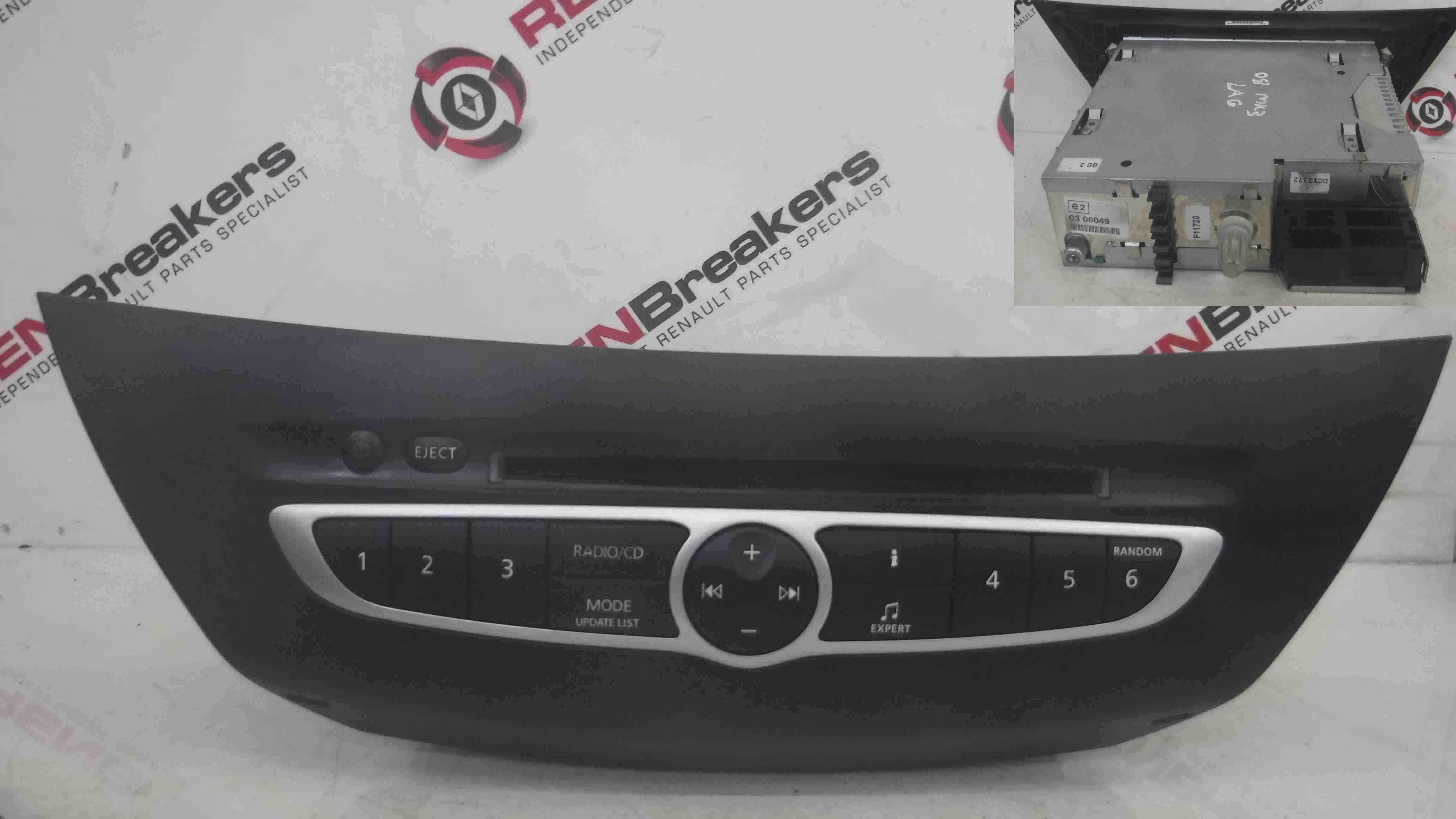 Renault Laguna MK3 2007-2012 Radio Cd Player Unit 281150013R