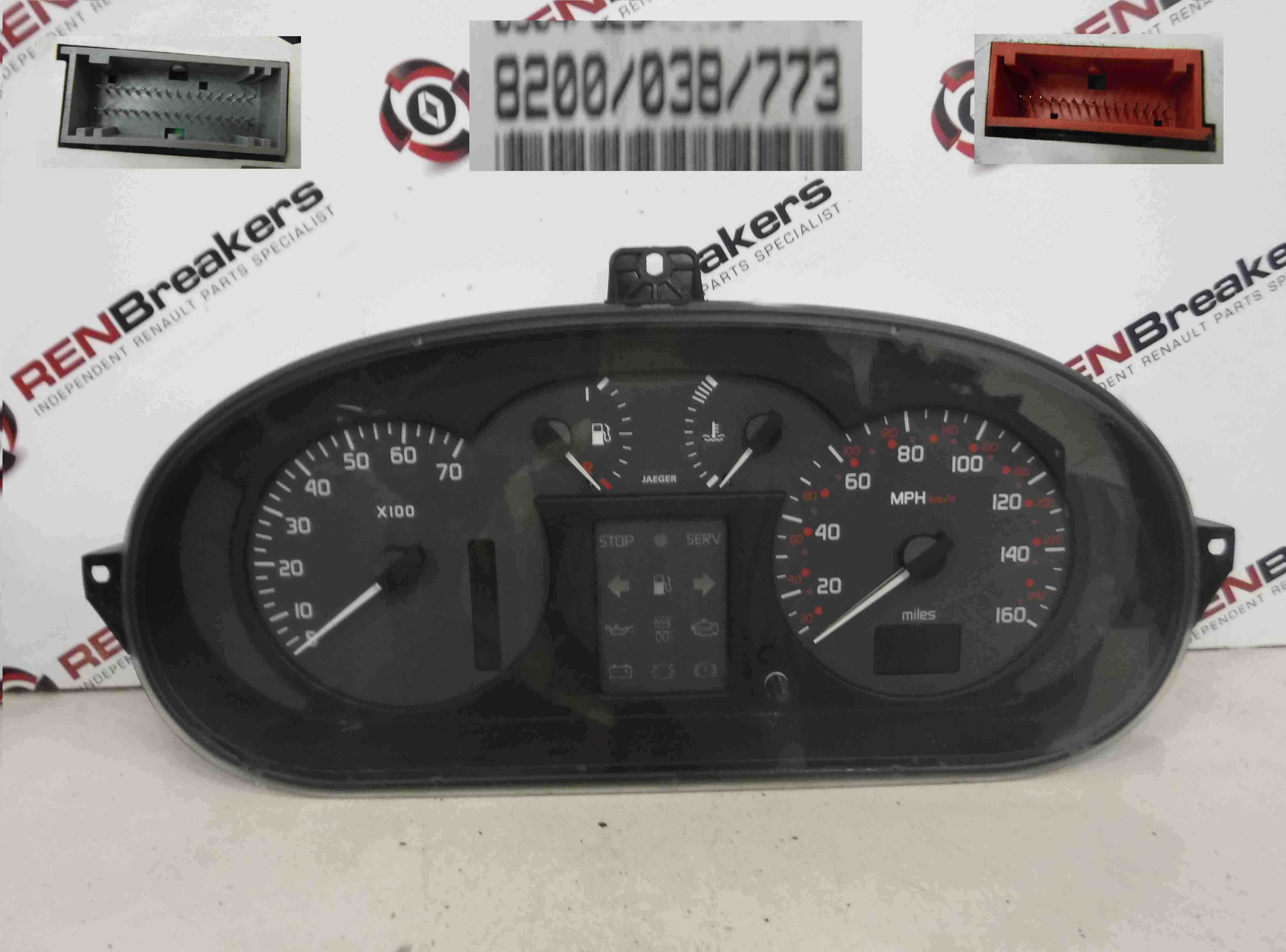 Renault Megane + Scenic 1999-2003 Instrument Panel Dials Gauges Clocks Auto