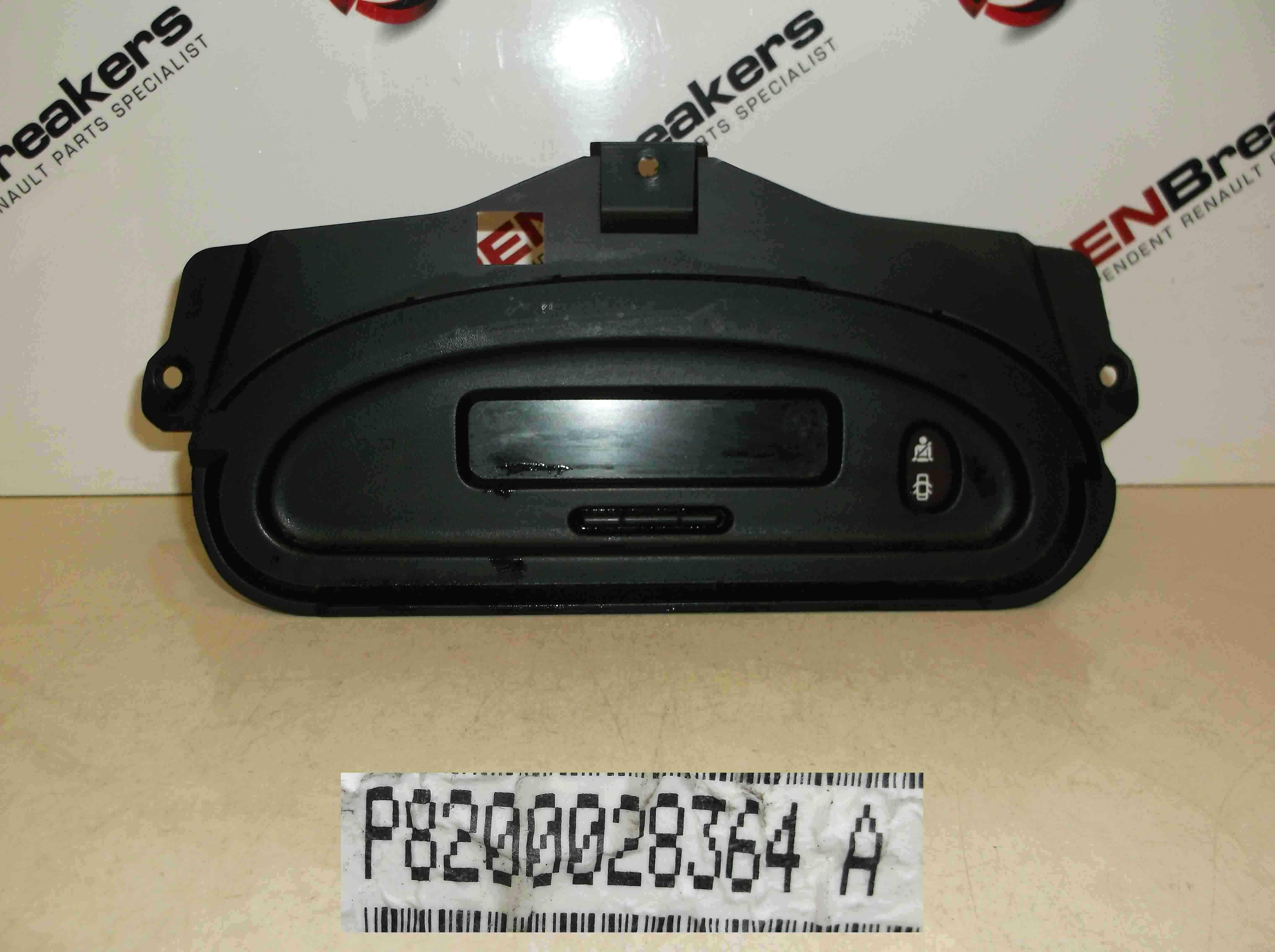 Renault Megane 1999-2001 CD Player Display Clocks Dials 8200028364