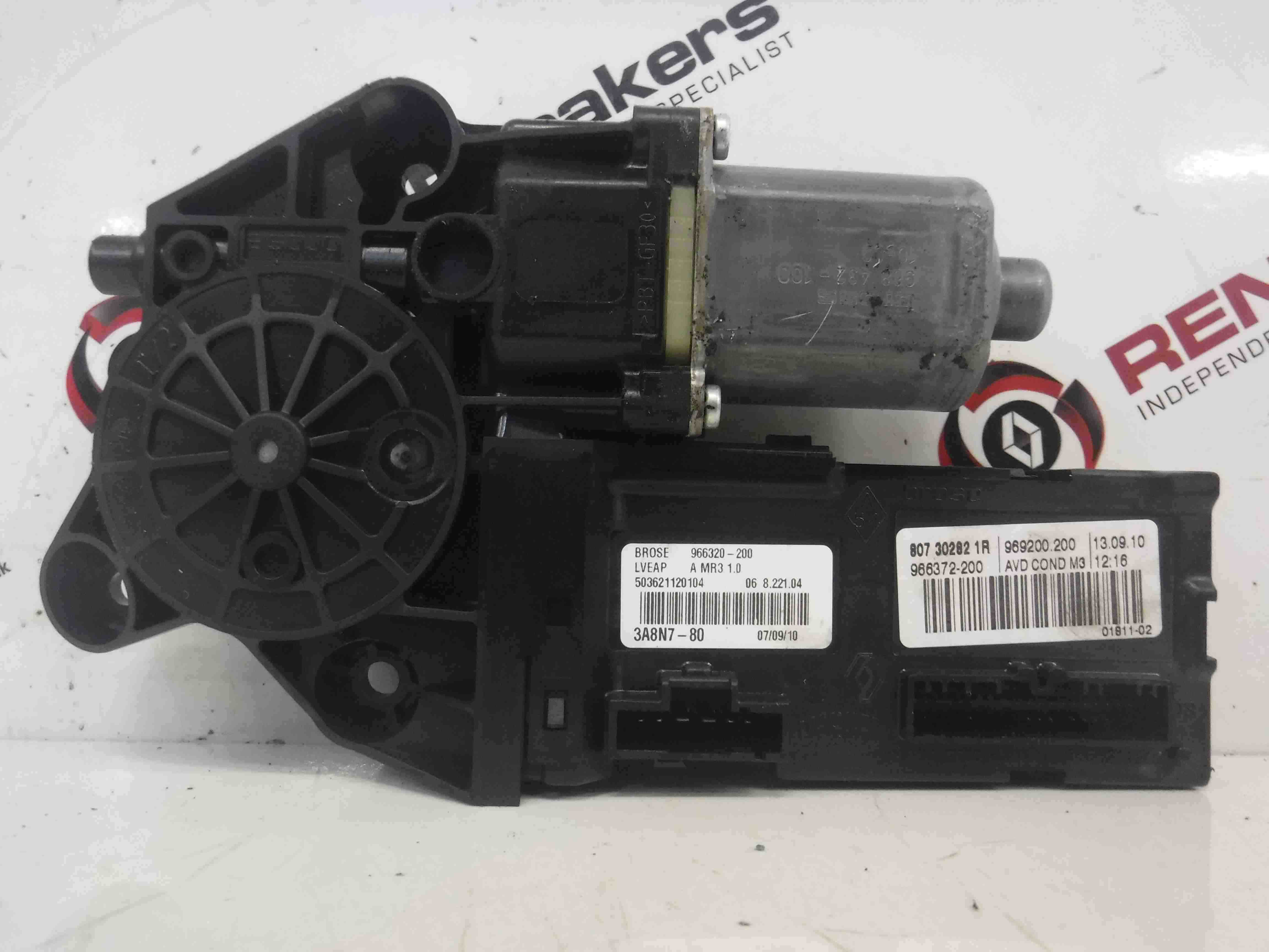 Renault Megane 2002-2008 Drivers OSF Front Window Motor 5dr 807302821R