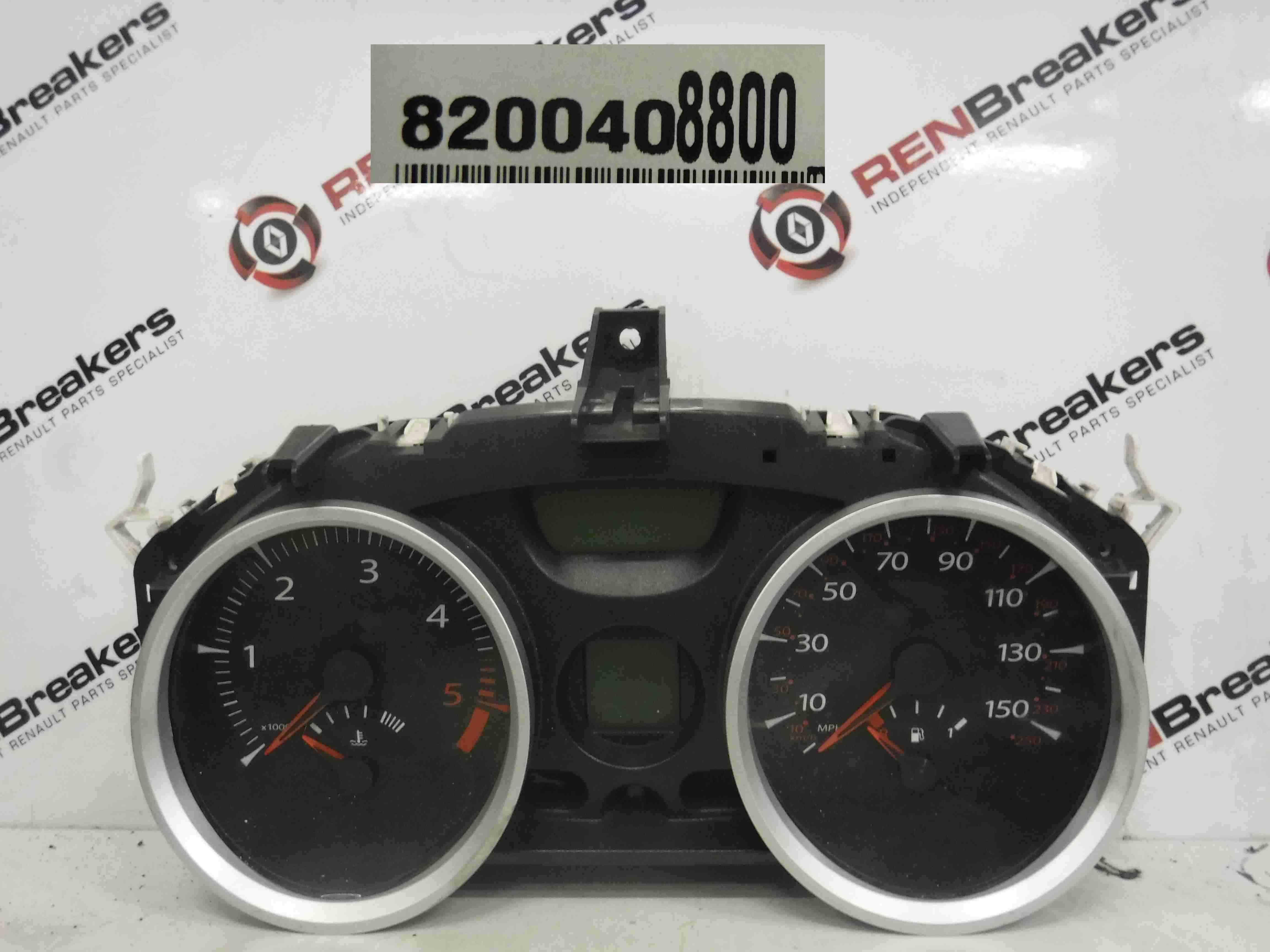 Renault Megane 2002-2008 Instrument Panel Clocks Dials 8200408800