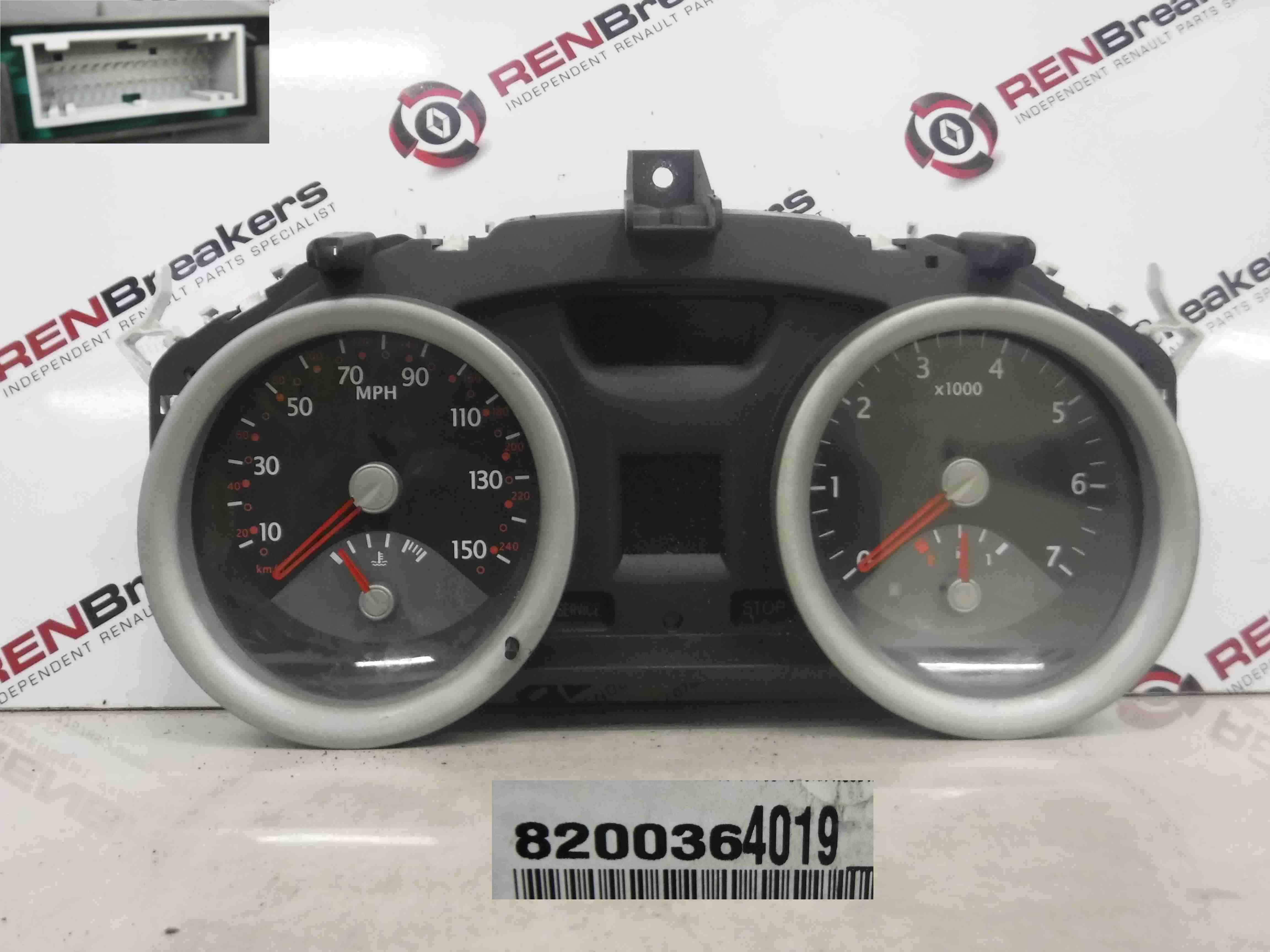 Renault Megane 2002-2008 Instrument Panel Dials Gauges Clocks 8200364019