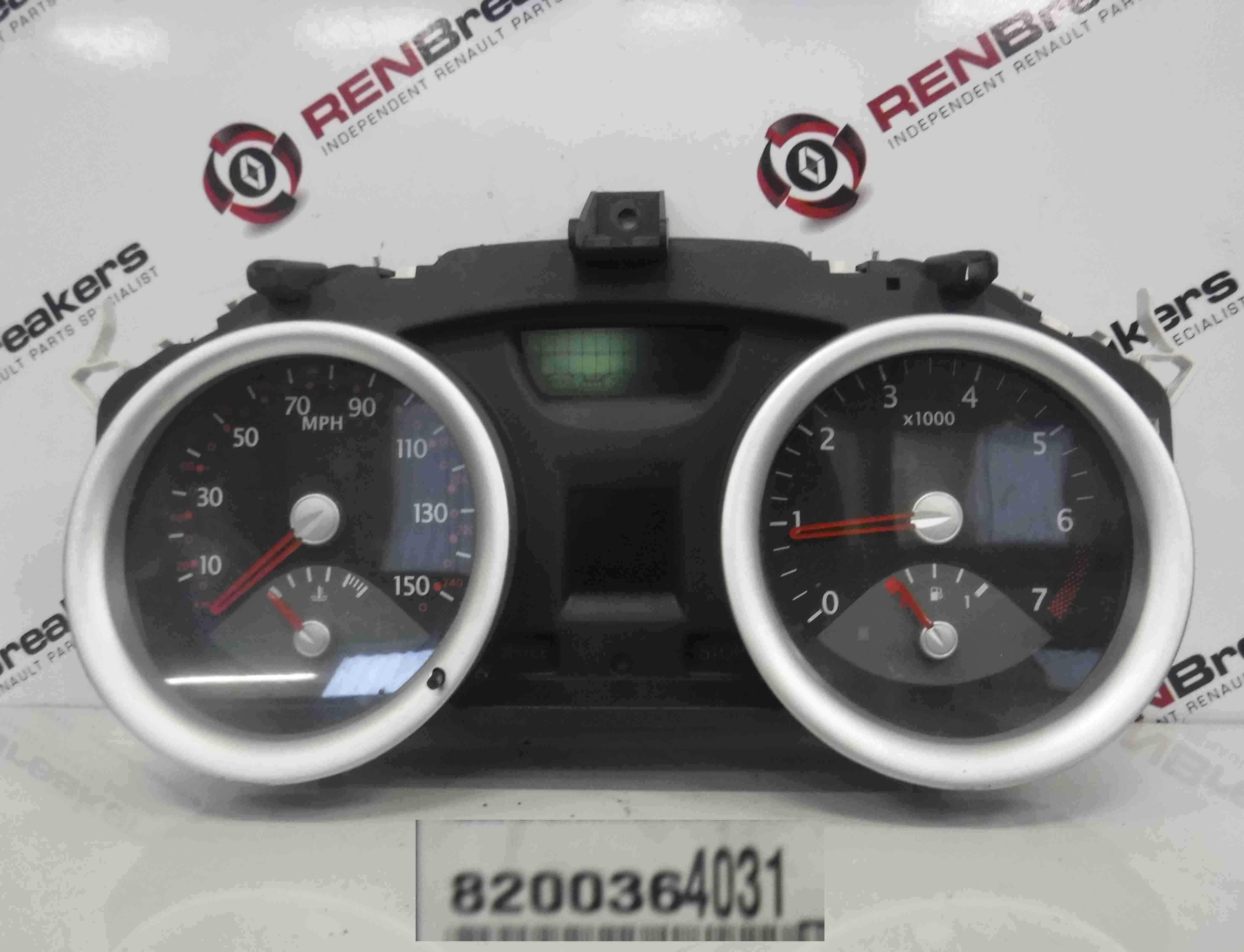 Renault Megane 2002-2008 Instrument Panel Dials Gauges Clocks 70K 8200364031