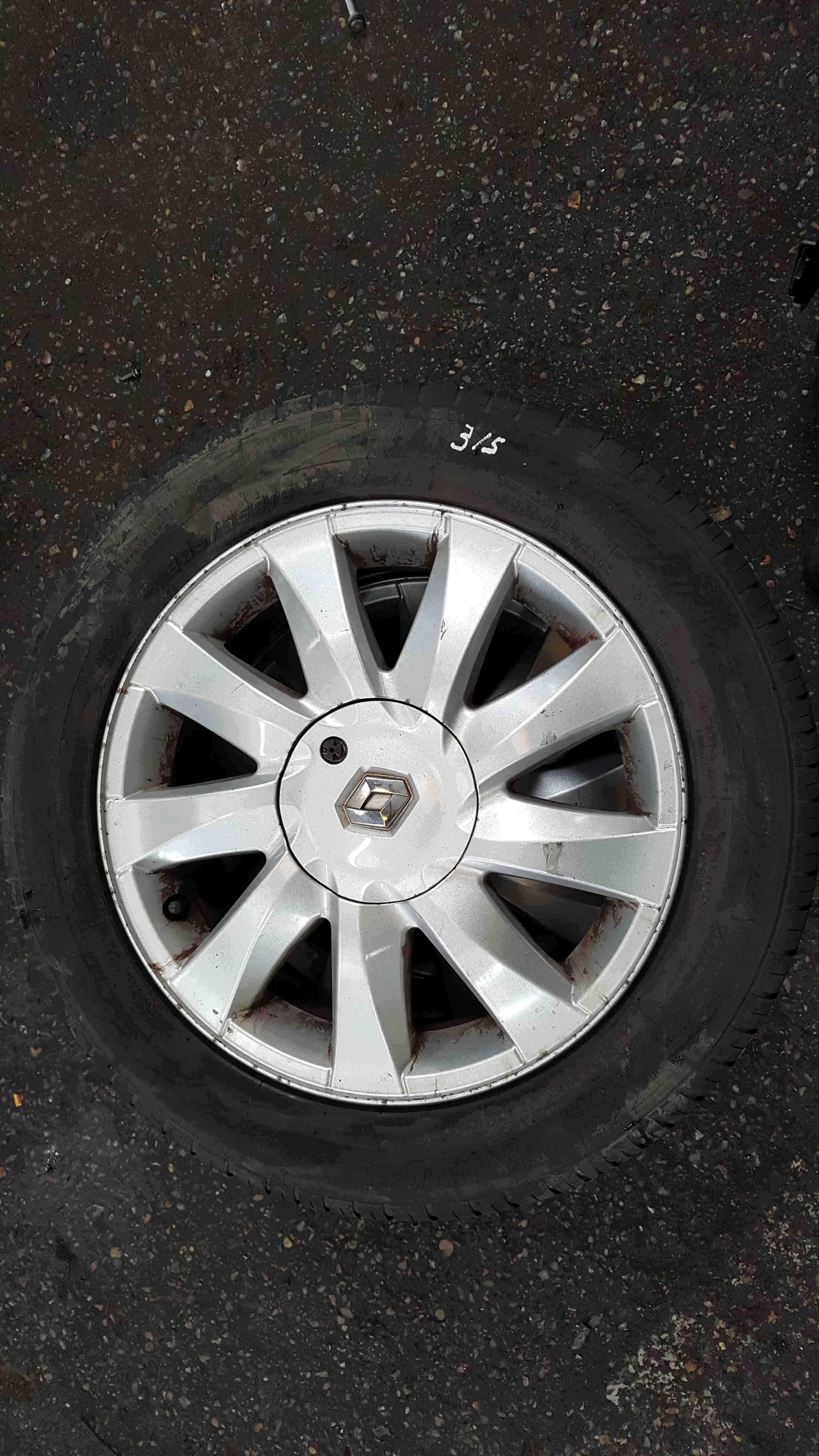 Renault Megane 2002-2008 Kubera Kubbera Alloy Wheel  Tyre 205 55 16 5mm 35