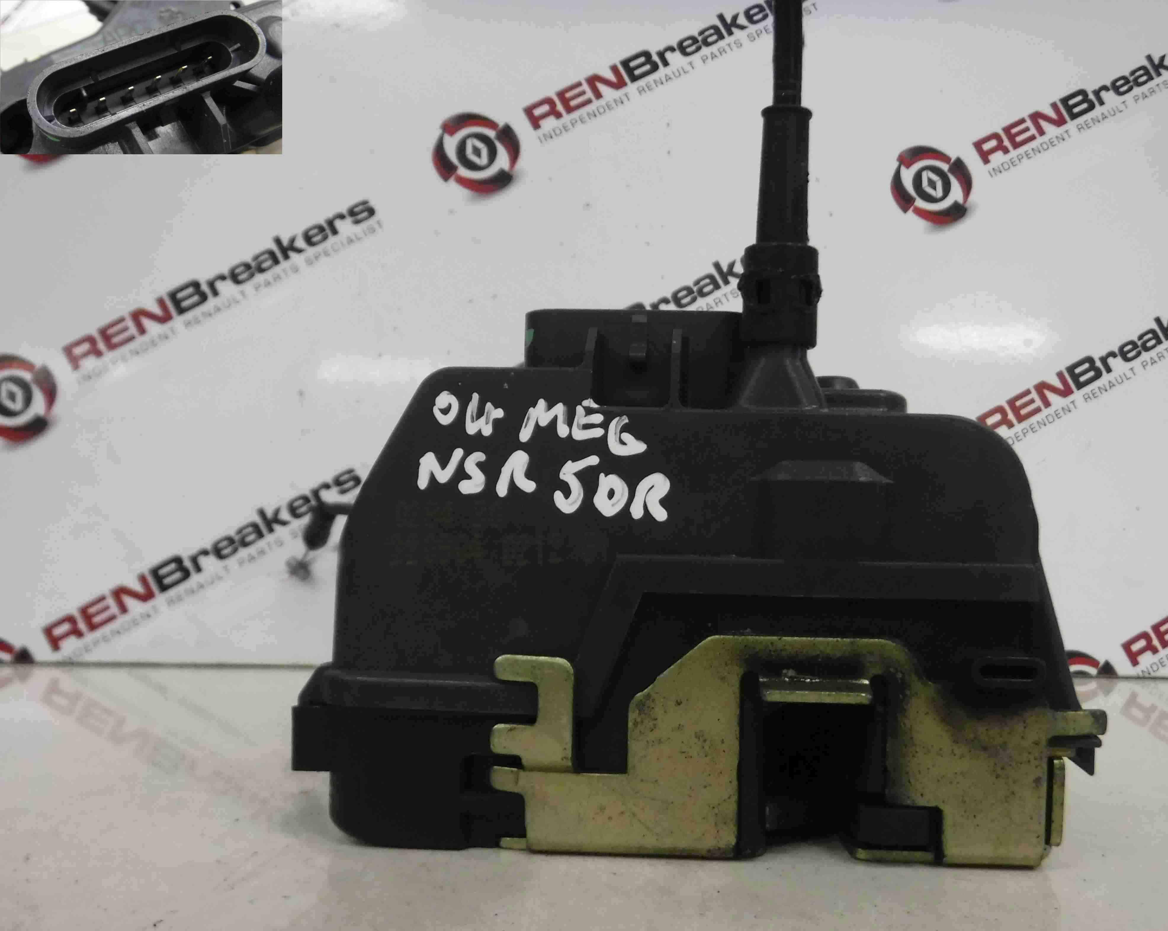 Renault Megane 2002-2008 Passenger NSR Rear Door Lock Mechanism 5dr