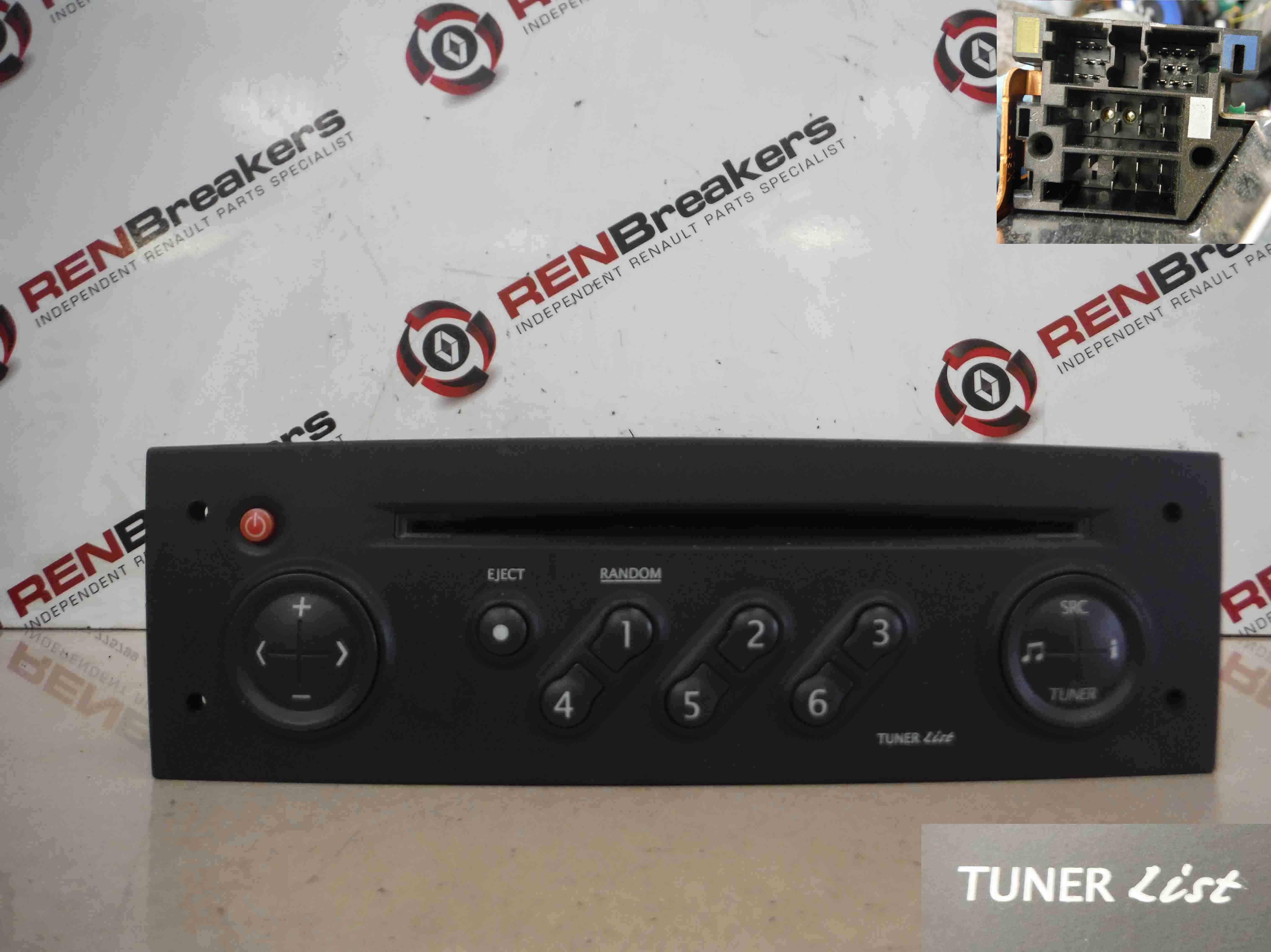 Renault Megane 2002-2008 Radio Cd Player Tuner List + Code 8200256141