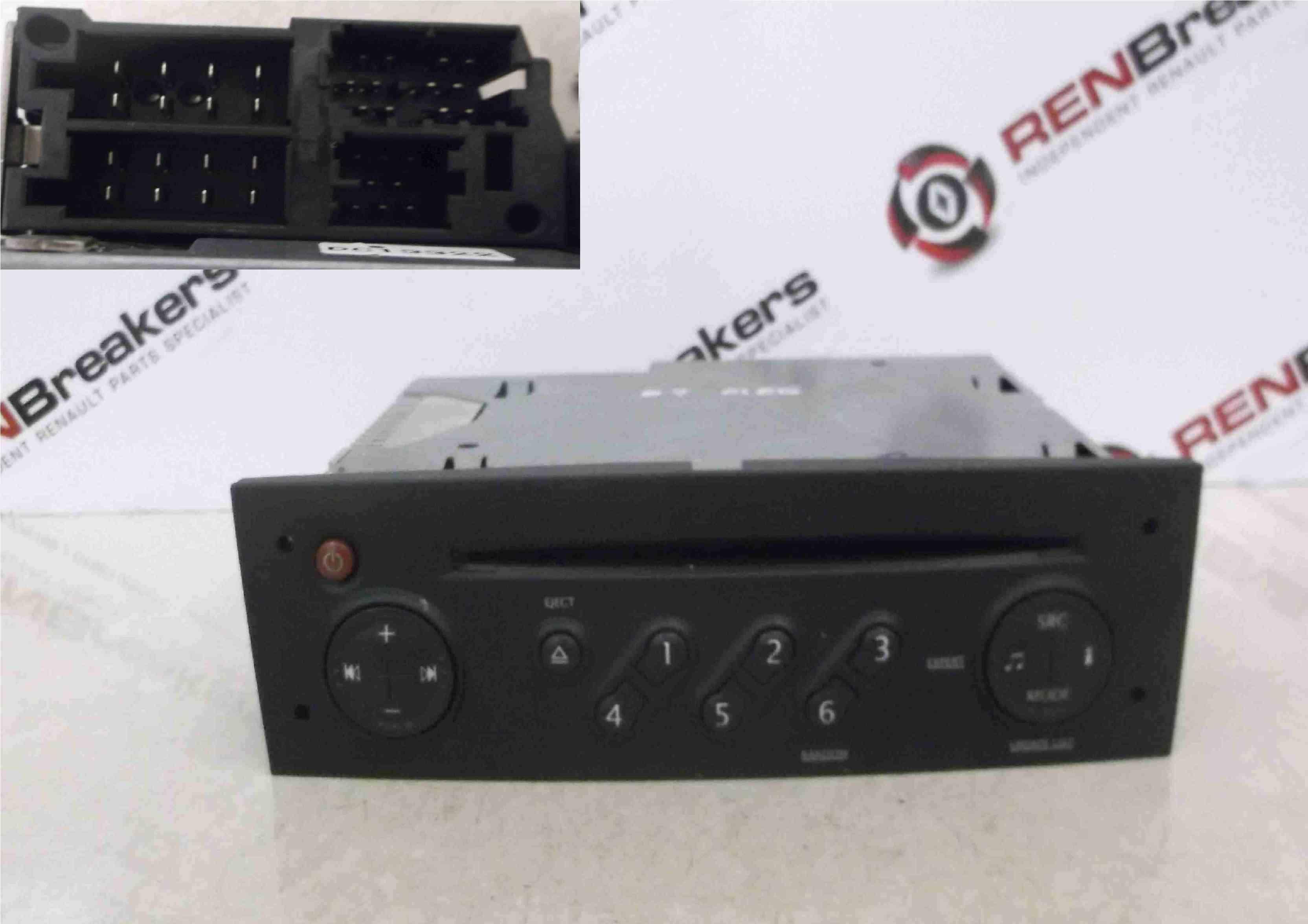 Renault Megane 2002-2008 Radio Cd Player Update List + Code 8200607918