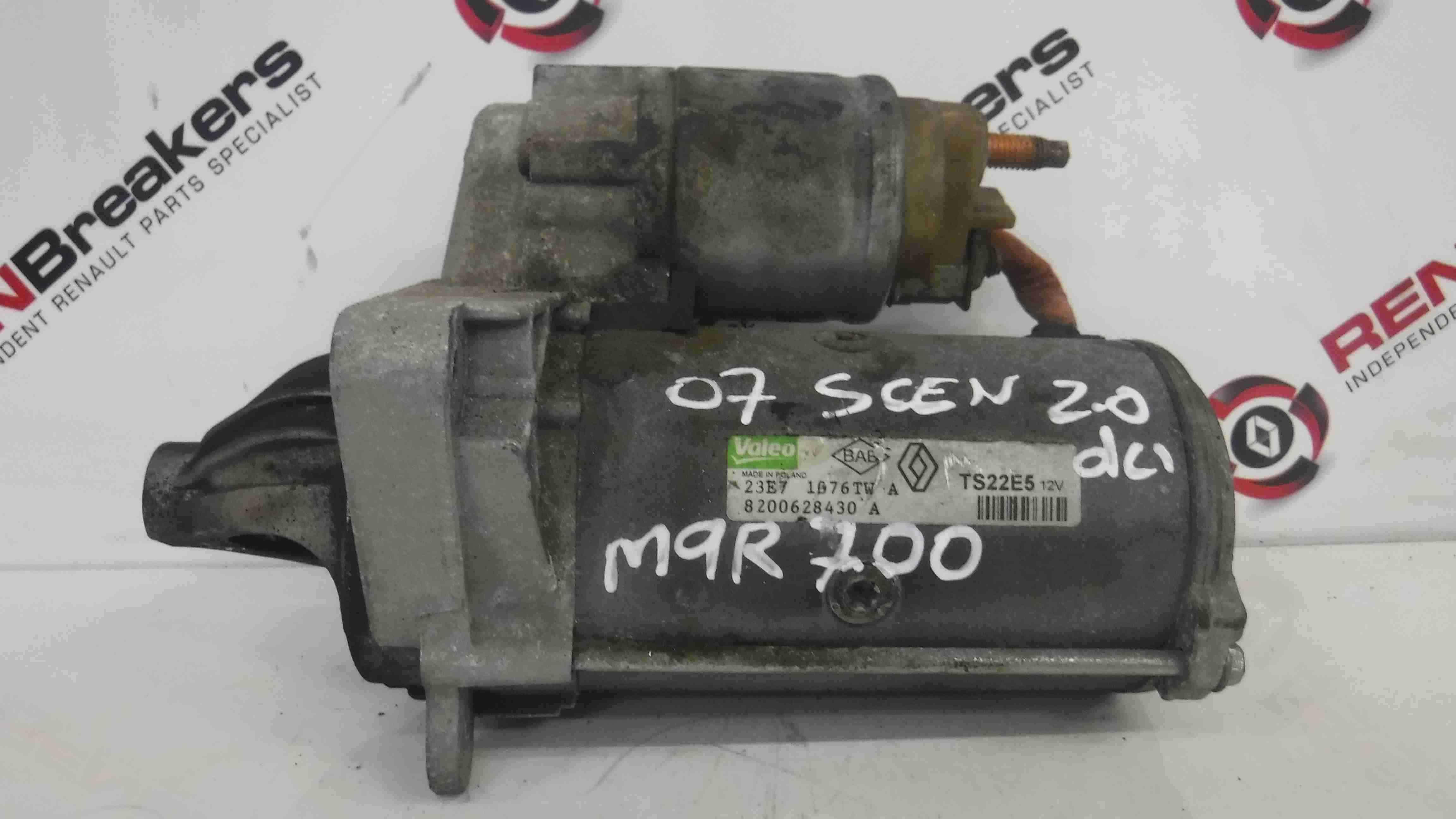 Renault Megane 2006-2008 2.0 dCi Starter Motor Starting M9R 700 740 8200628430