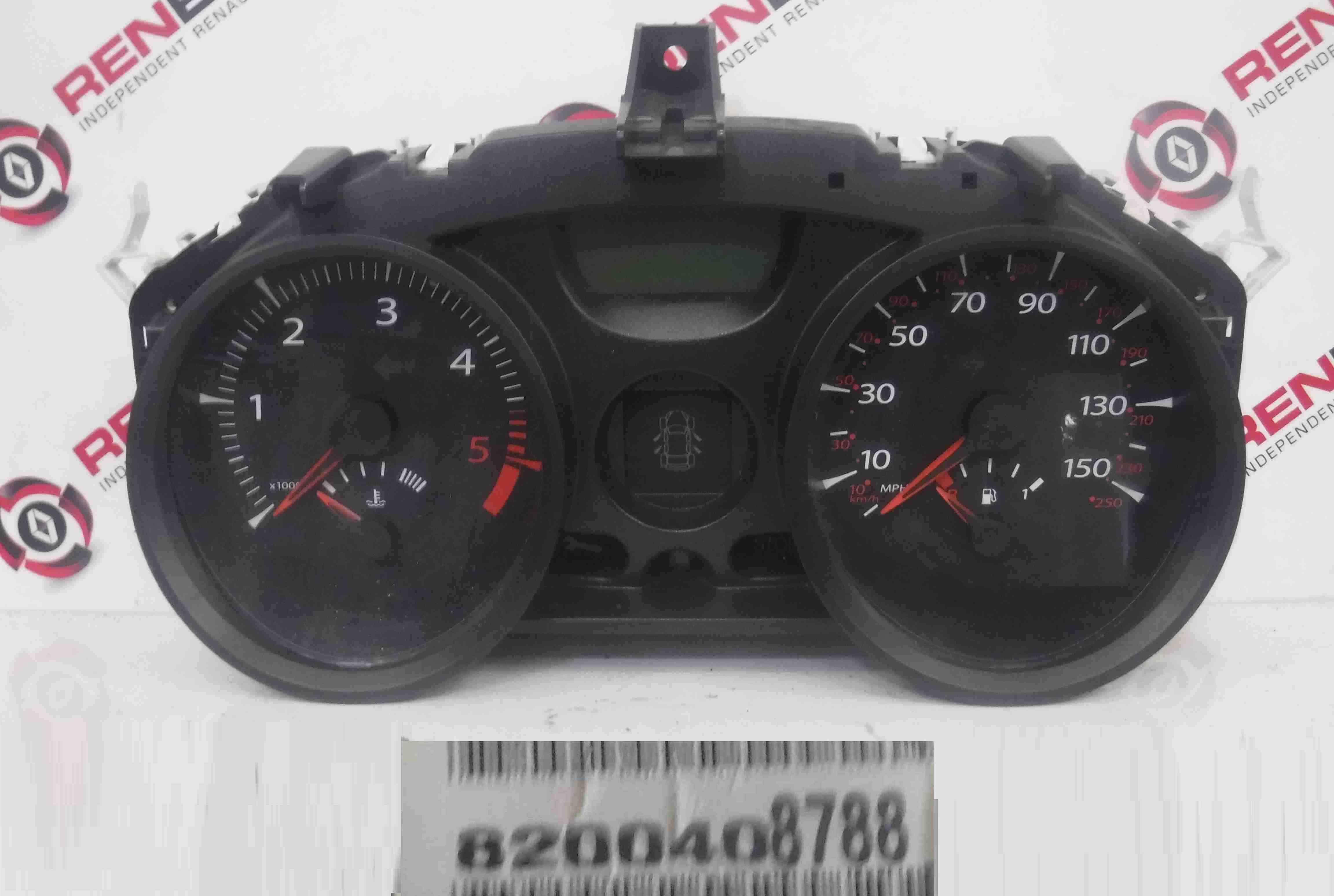 Renault Megane 2006-2008 Instrument Panel Dials Gauges Clocks 105K 8200408788