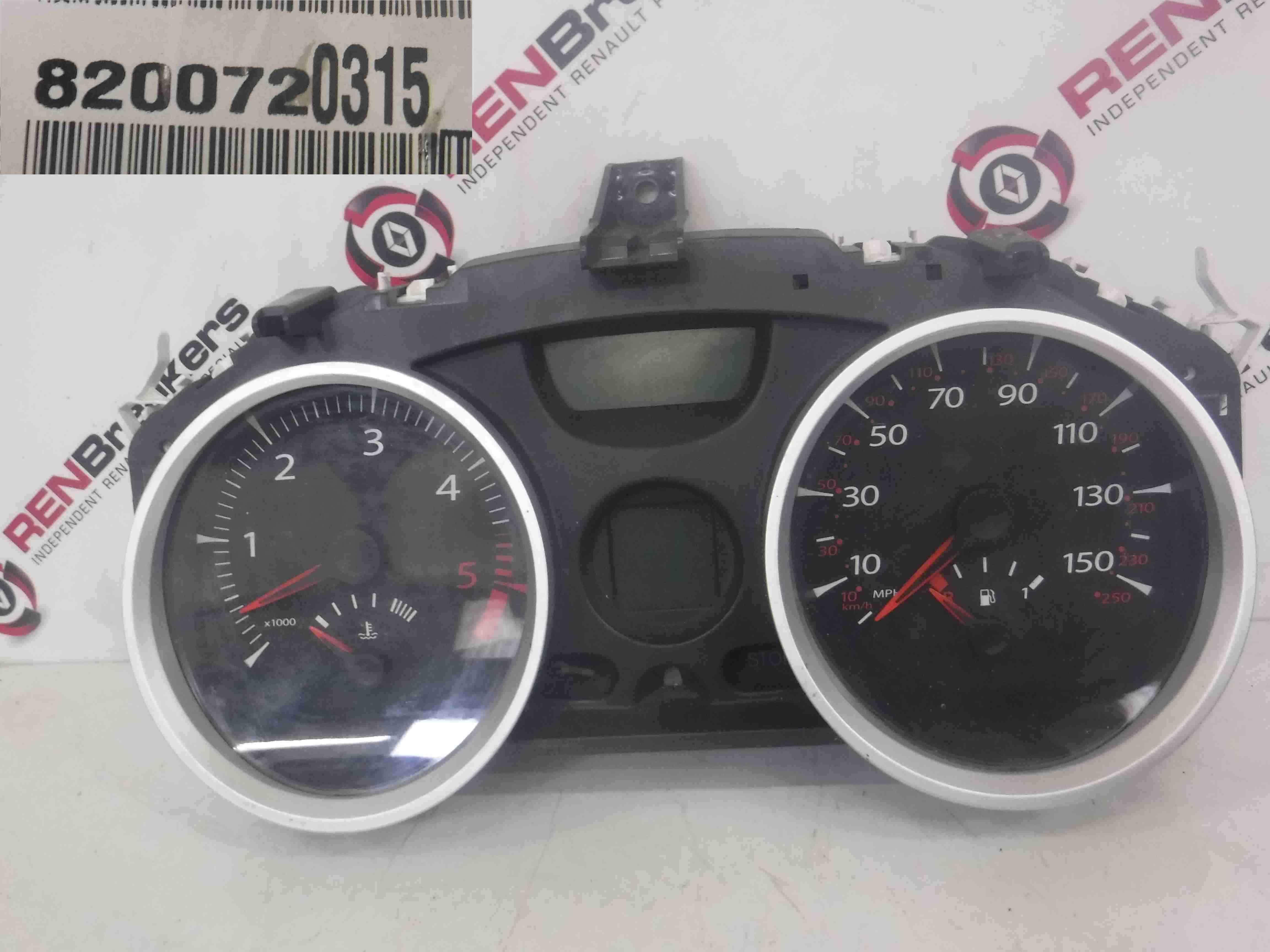 Renault Megane 2006-2008 Instrument Panel Dials Gauges Clocks 116K 8200720315