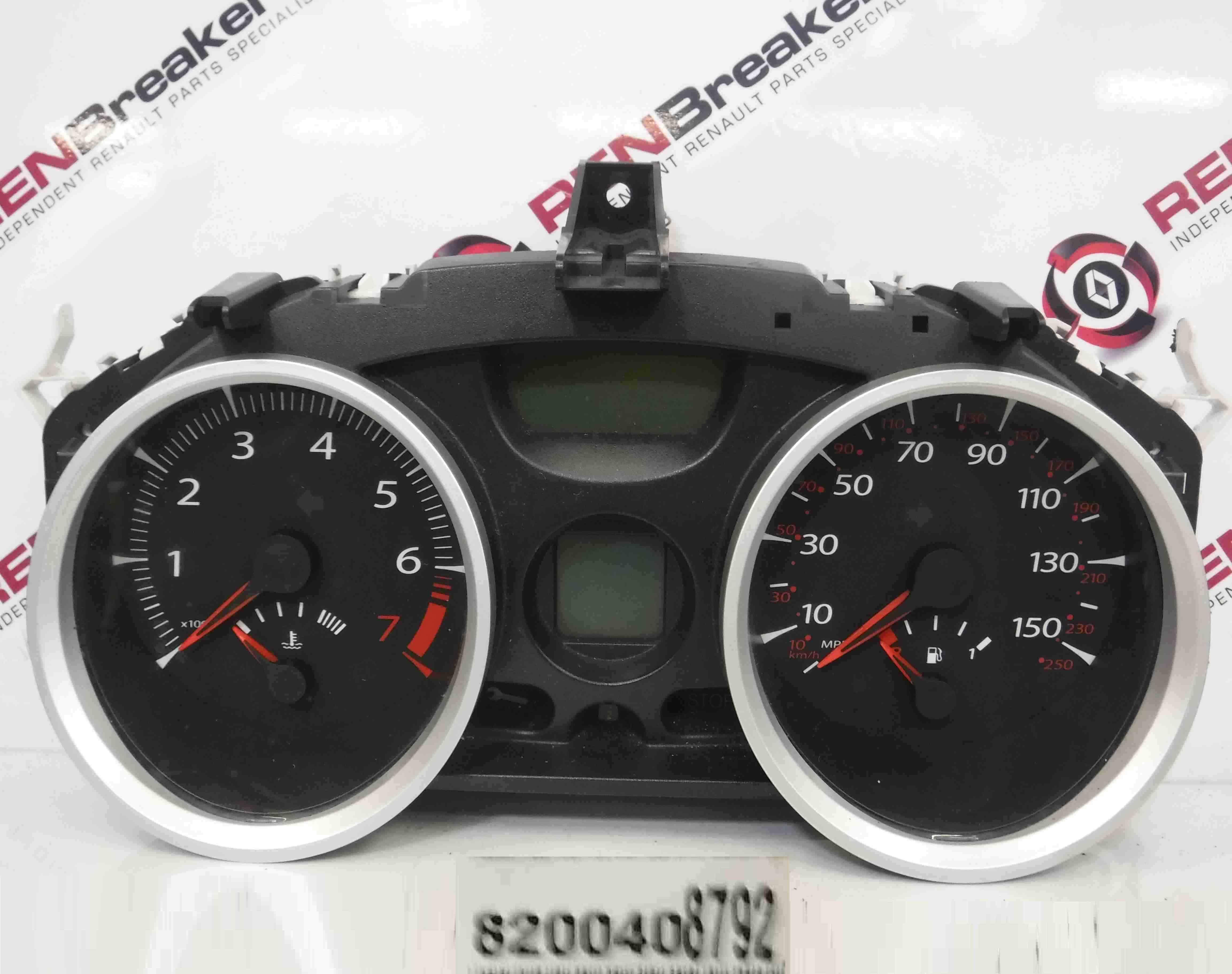 Renault Megane 2006-2008 Instrument Panel Dials Gauges Clocks 121k 8200408792