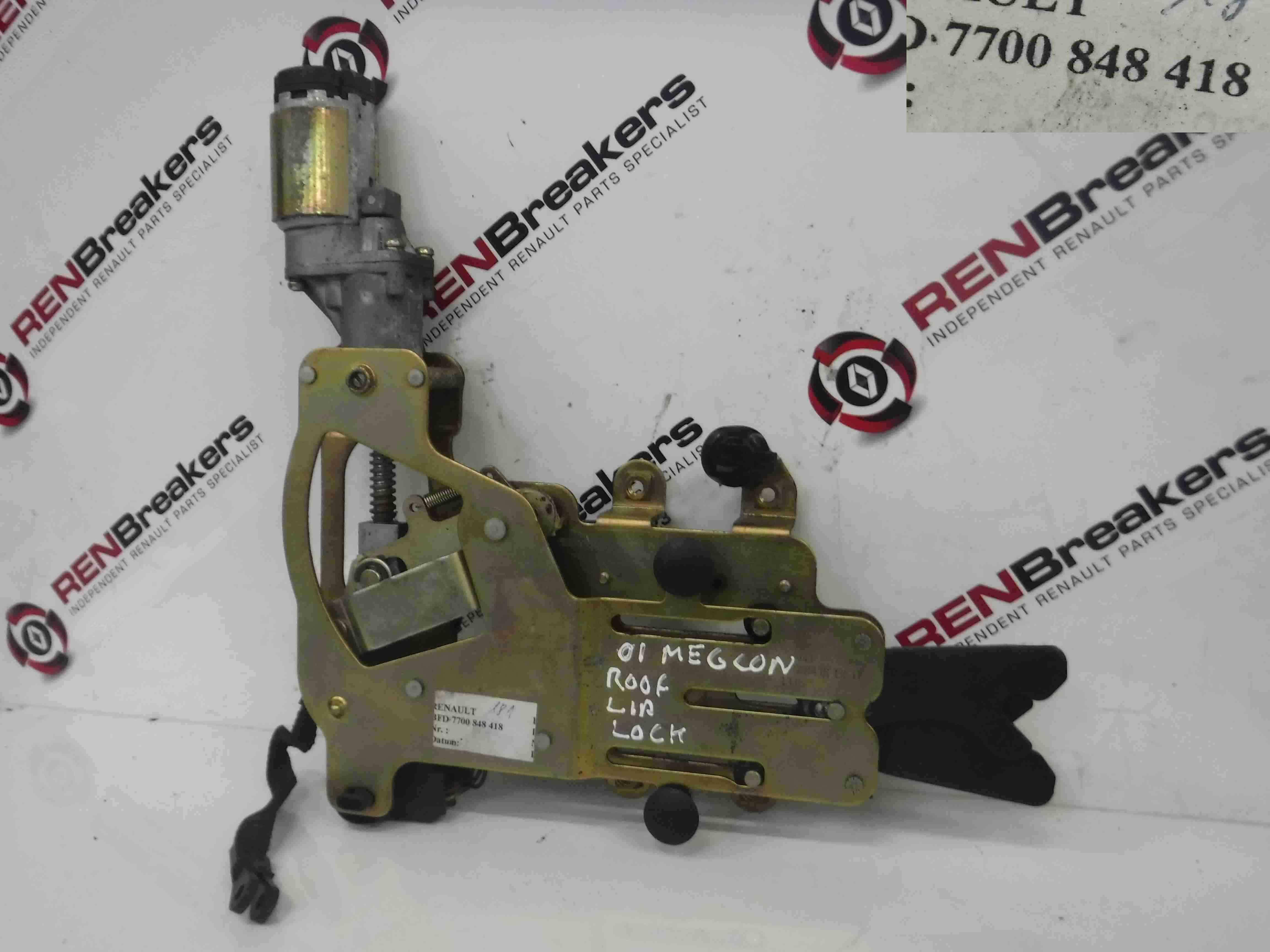 Renault Megane Convertible 1999-2002 Roof Locking Mechanism 7700848418