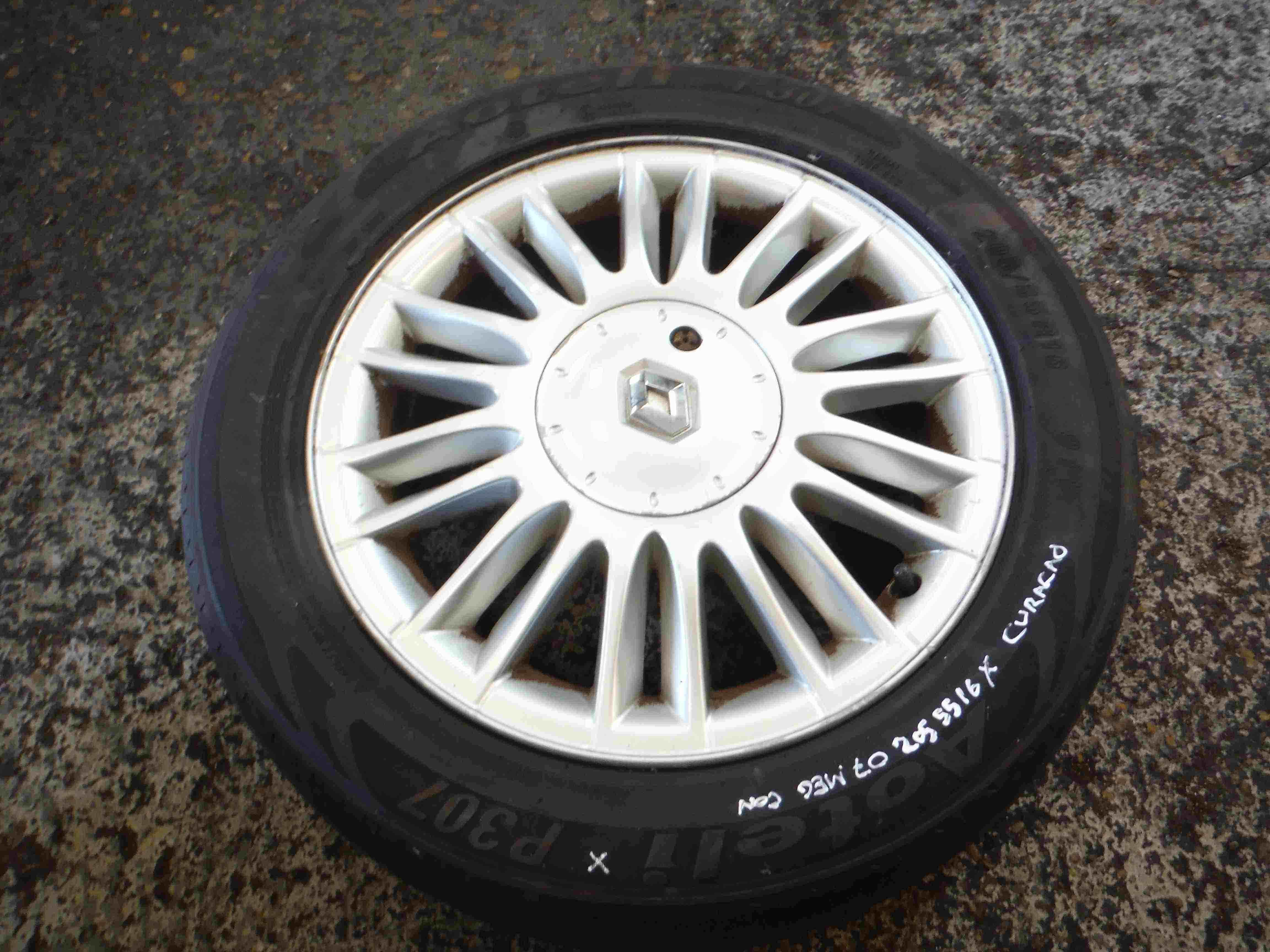 Renault Megane Convertible 2002-2008 Curacao Alloy Wheel 16inch 205 55 16 6mm