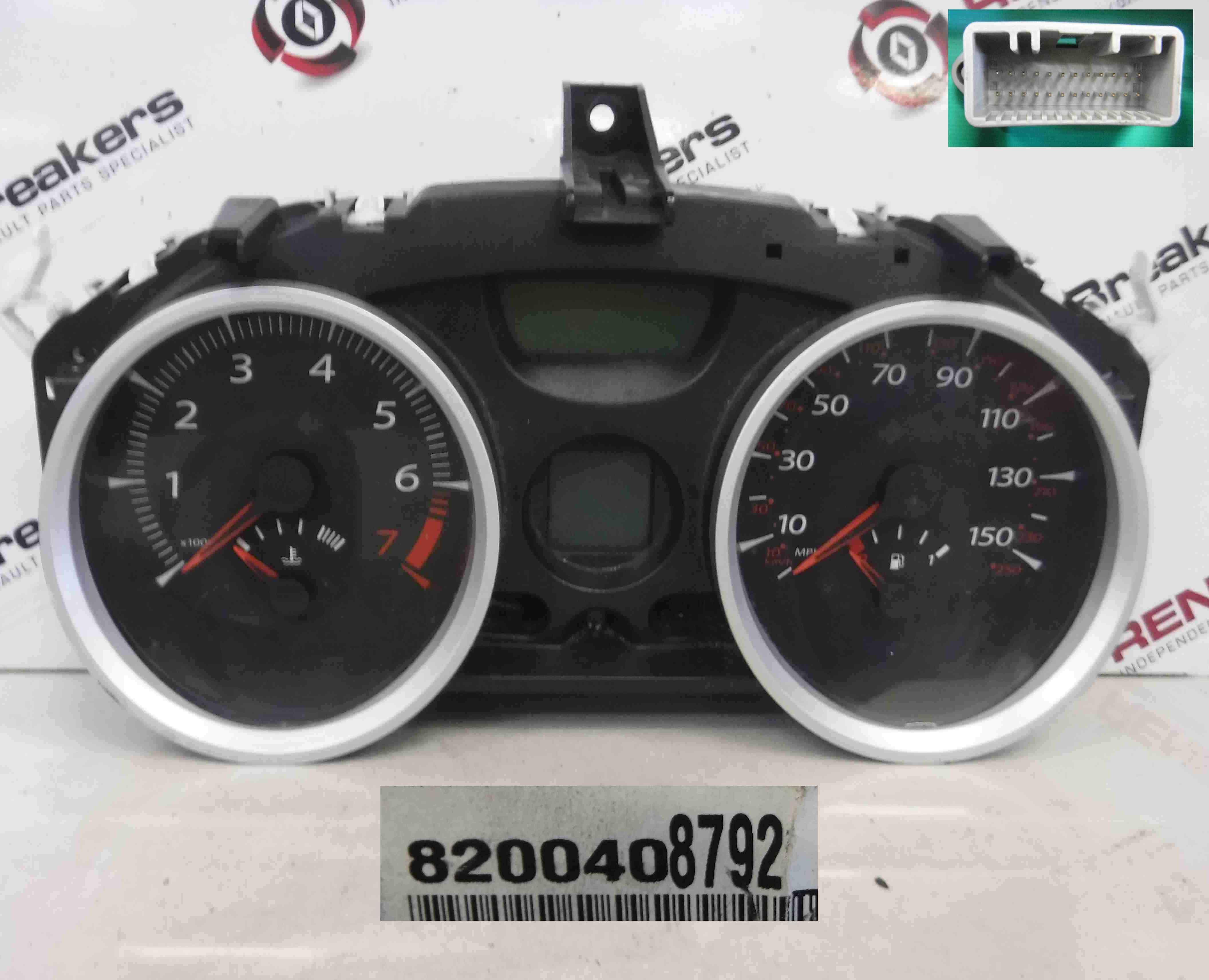 Renault Megane Convertible 2002-2008 Instrument Panel Dials Gauges Clocks 73K