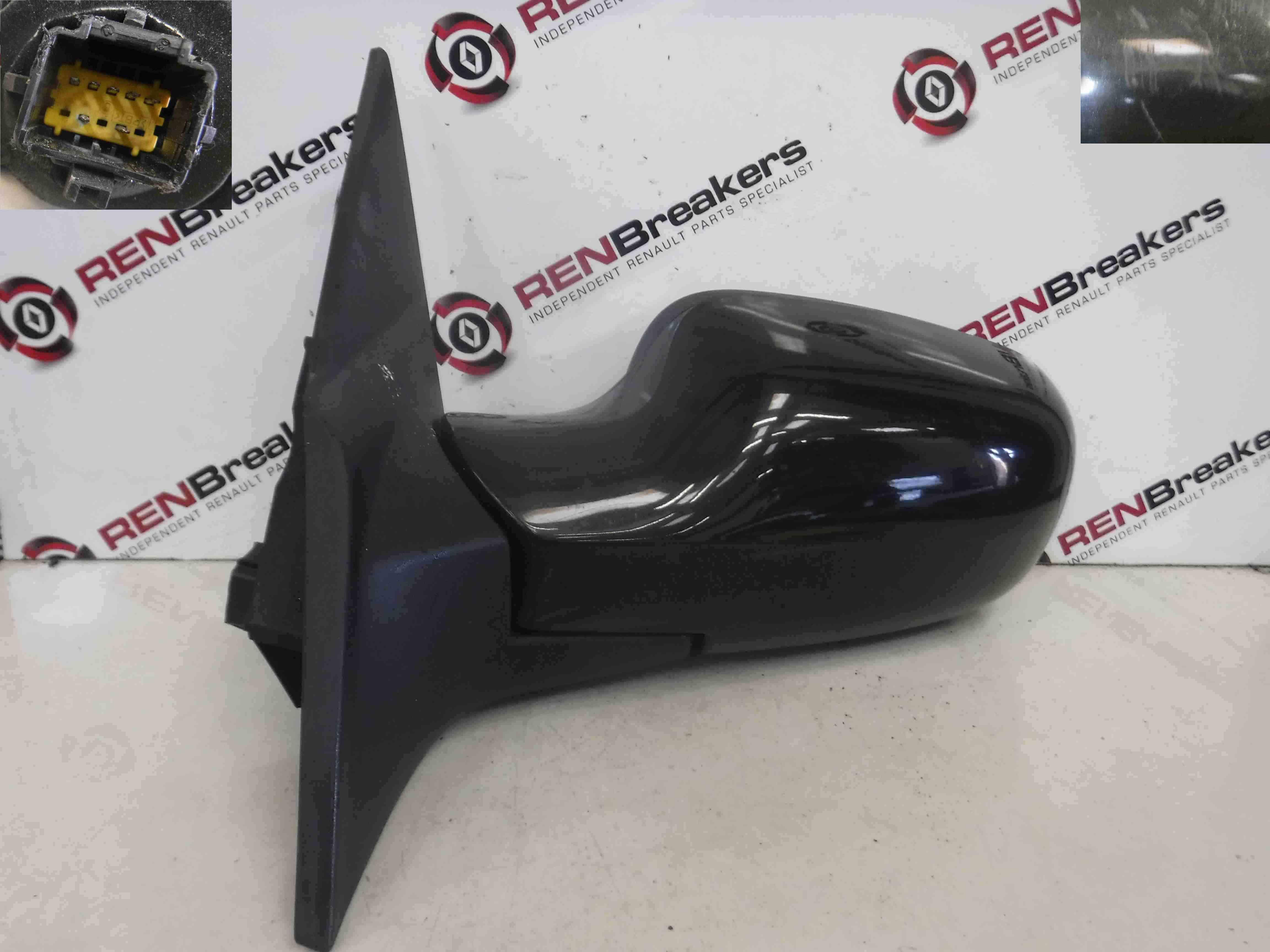Renault Megane Convertible 2002-2008 Passenger NS Wing Mirror Black 676