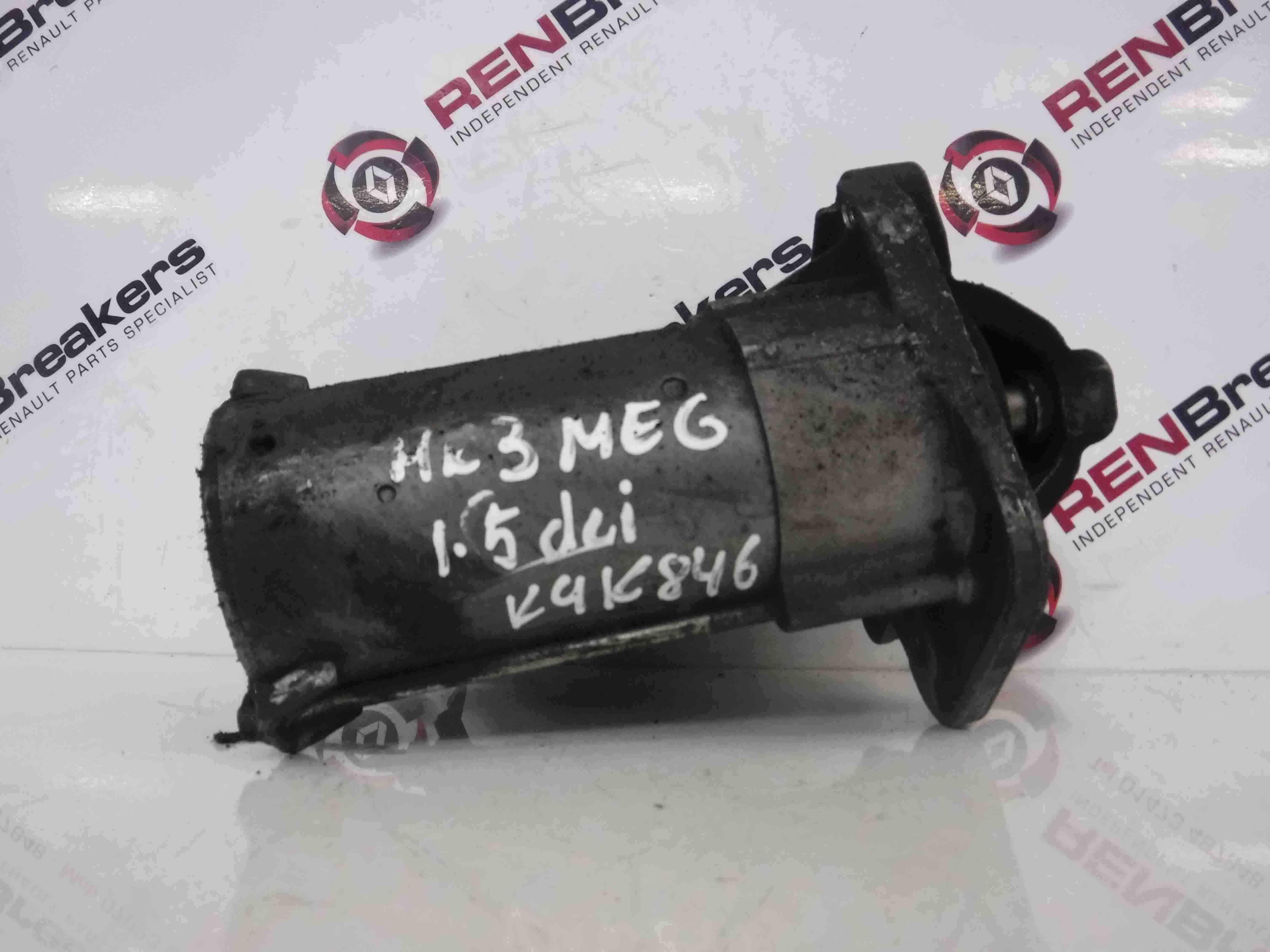 Renault Megane MK3 2008-2014 1.5 dCi Starter Motor Starting K9K 830836473