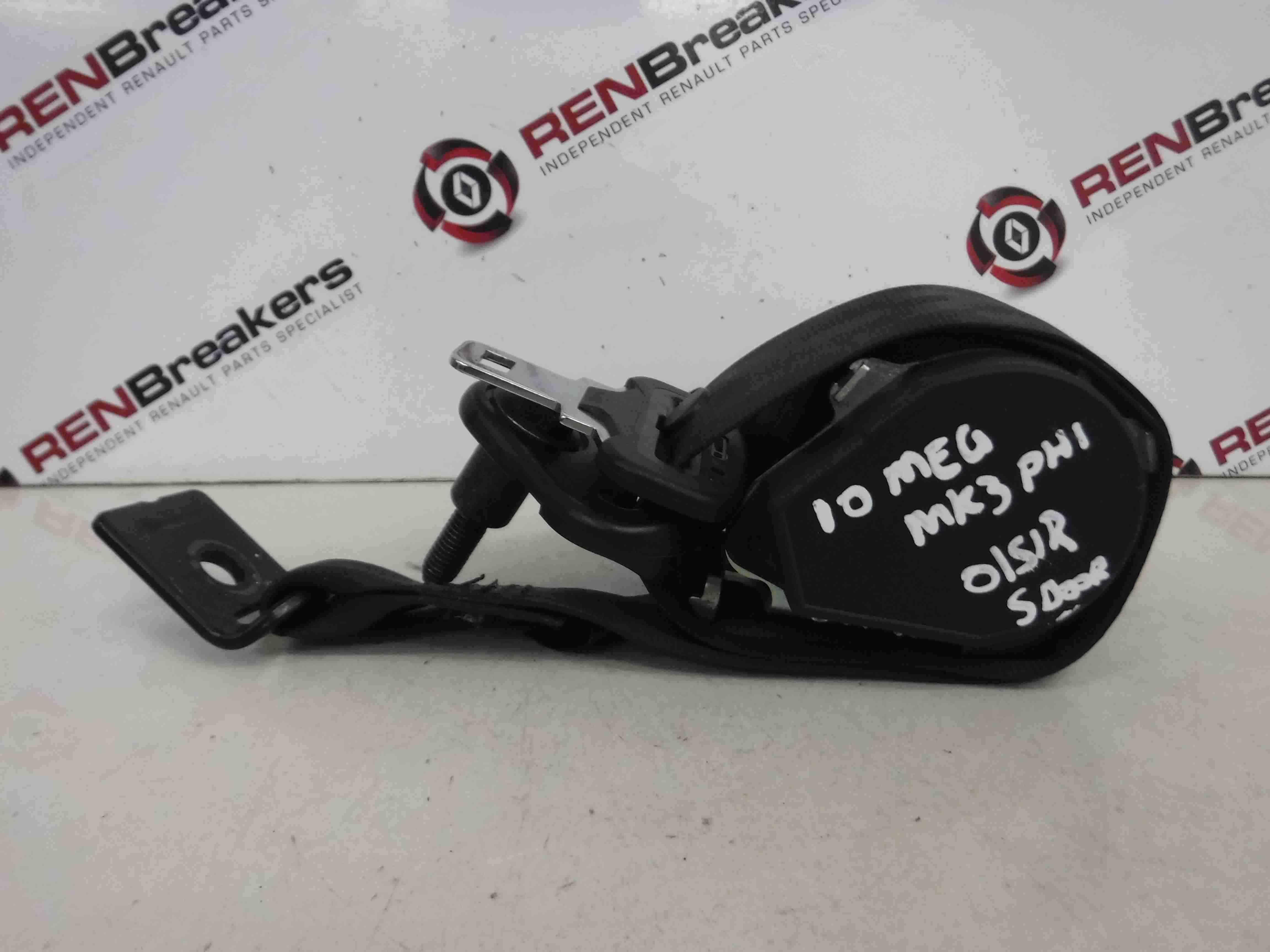 Renault Megane MK3 2008-2014 Drivers OSR Rear Seat Belt 5dr 888400027R
