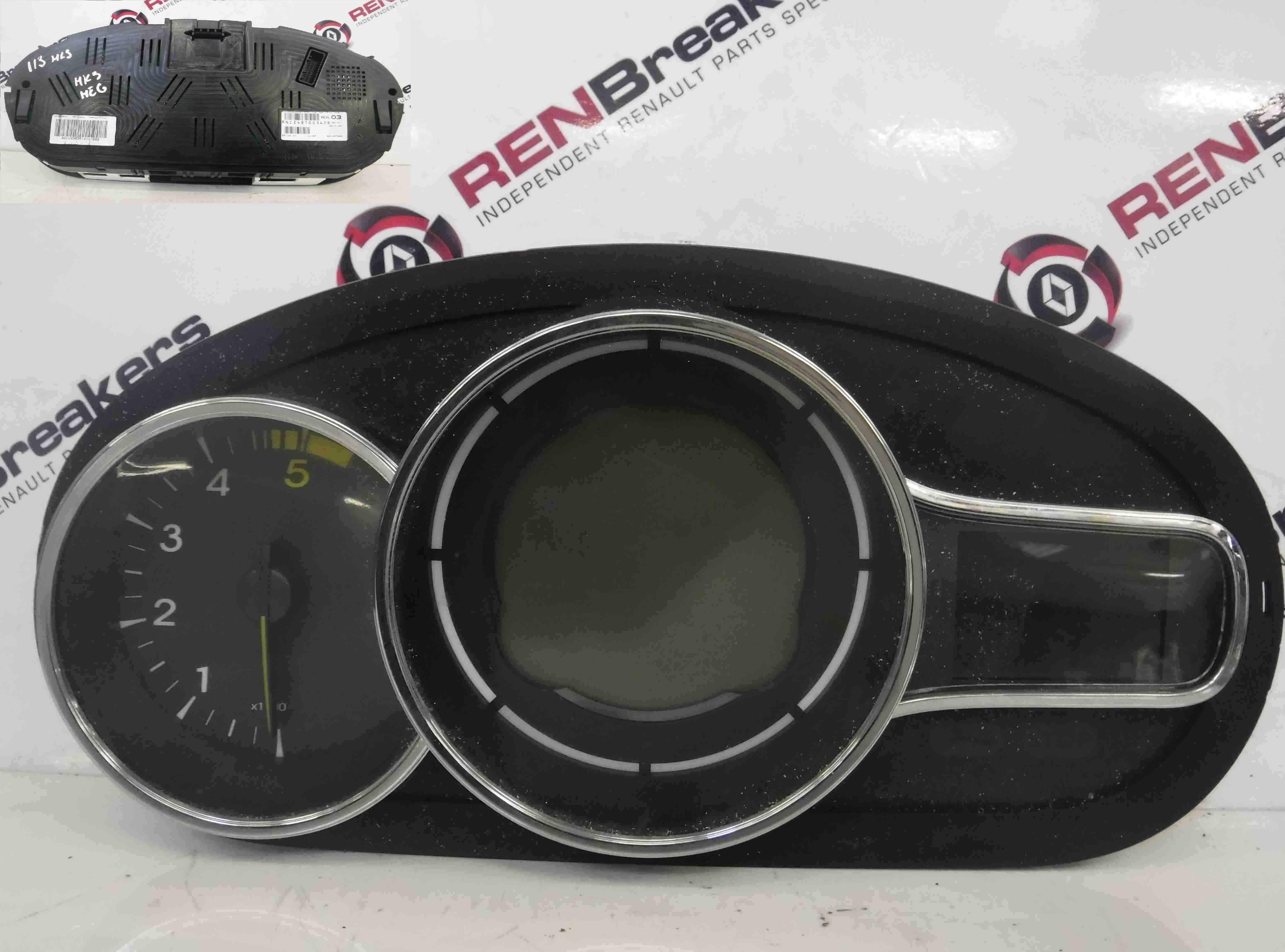 Renault Megane MK3 2008-2014 Instrument Panel Dashboard Clocks  248100342R