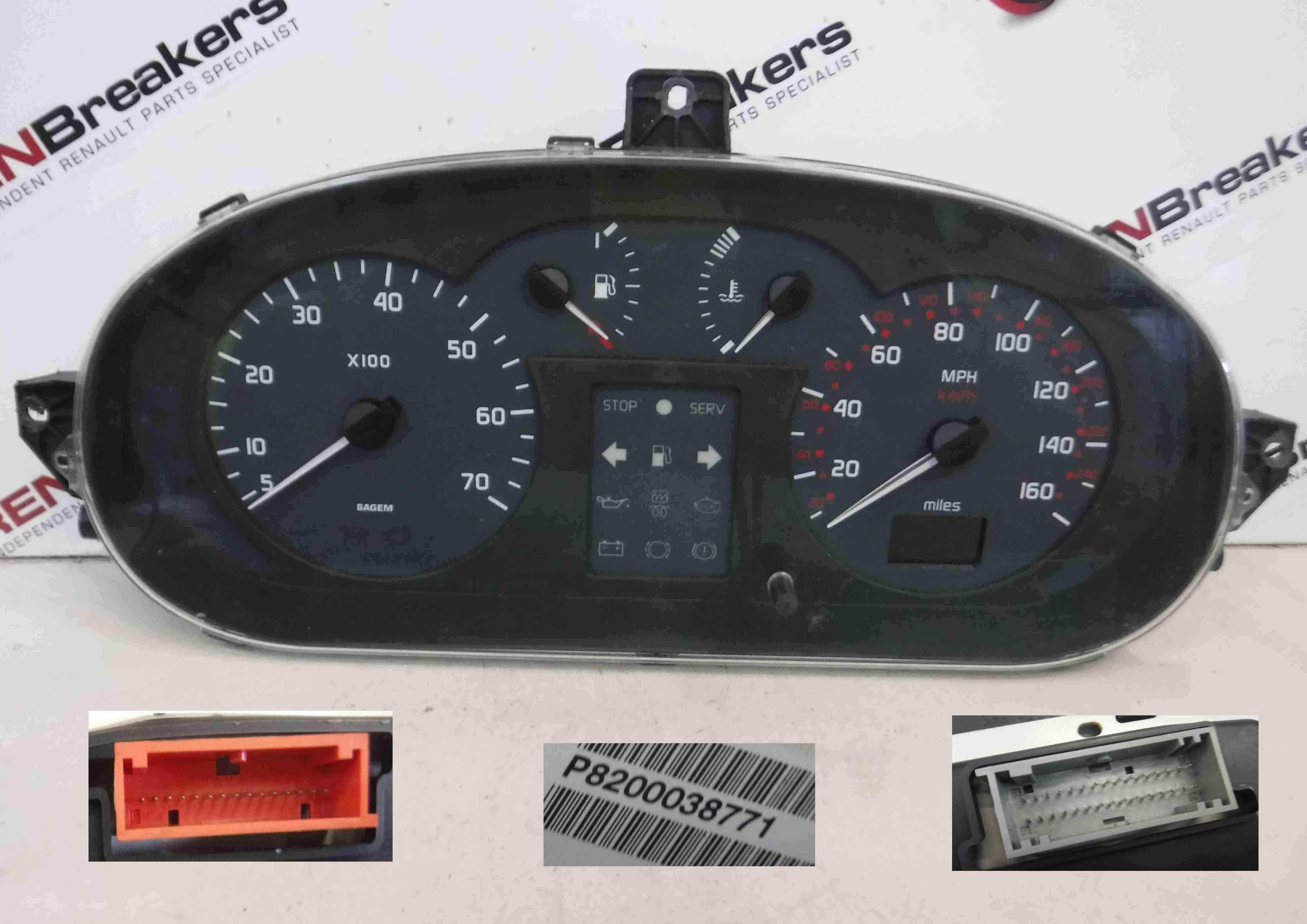 Renault Megane Scenic 1999-2003 Instrument Panel Dials Gauges Clocks 134K