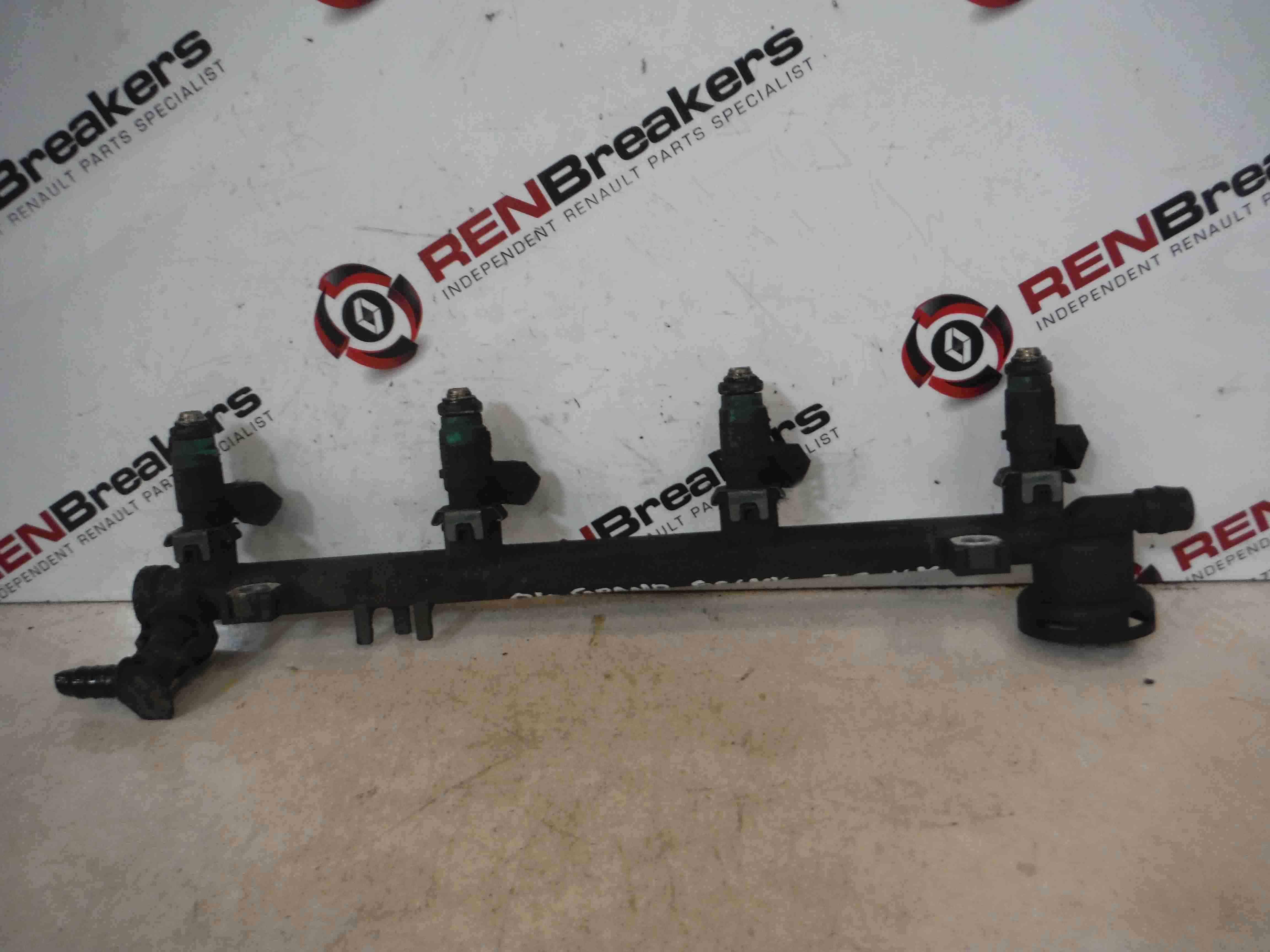 Renault Megane Scenic 2003-2009 2.0 16v Fuel Injectors + Rail F4R 771 7700112777