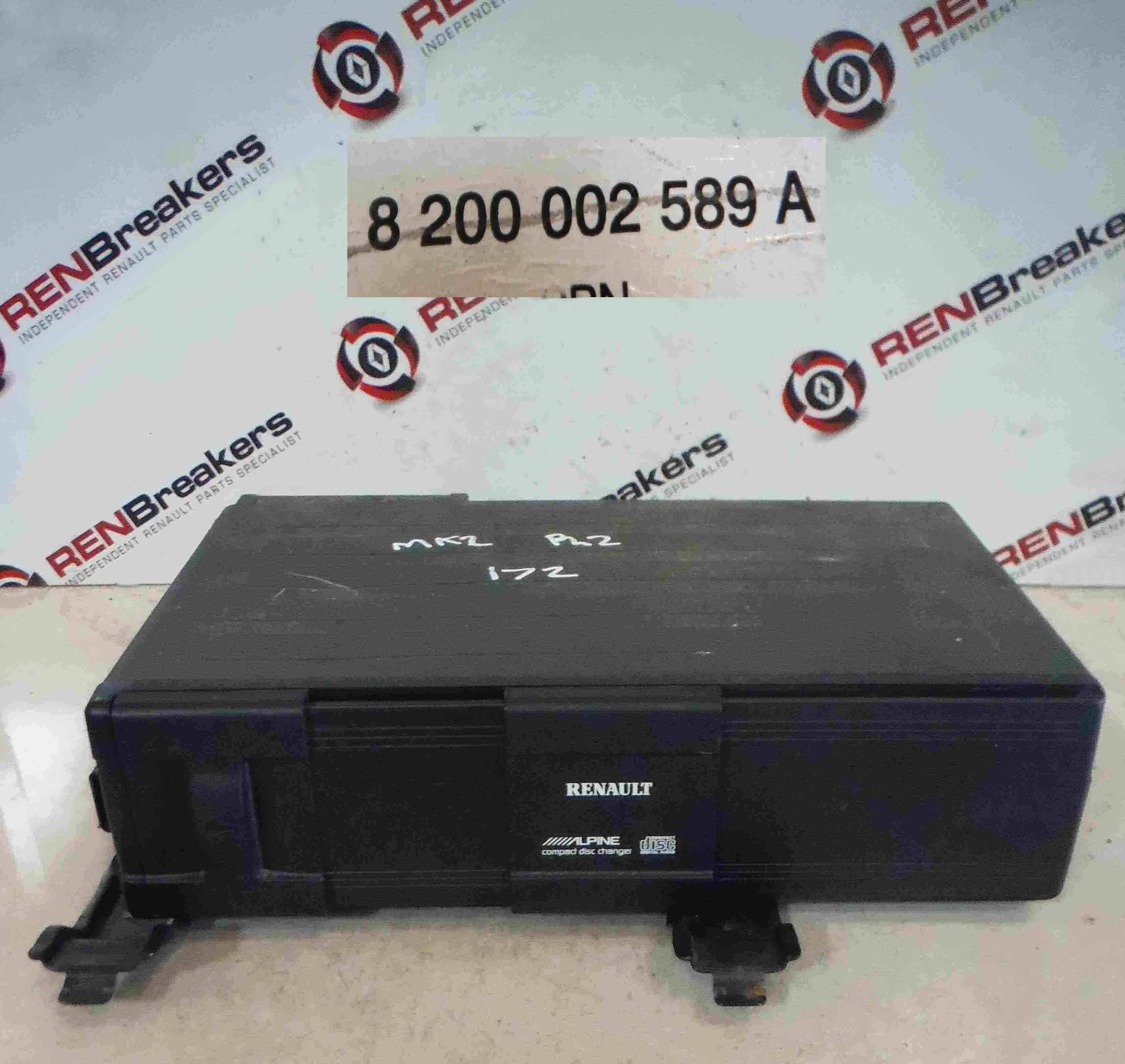 Renault Megane Scenic 2003-2009 CD Multi Changer Disk Player 8200002589