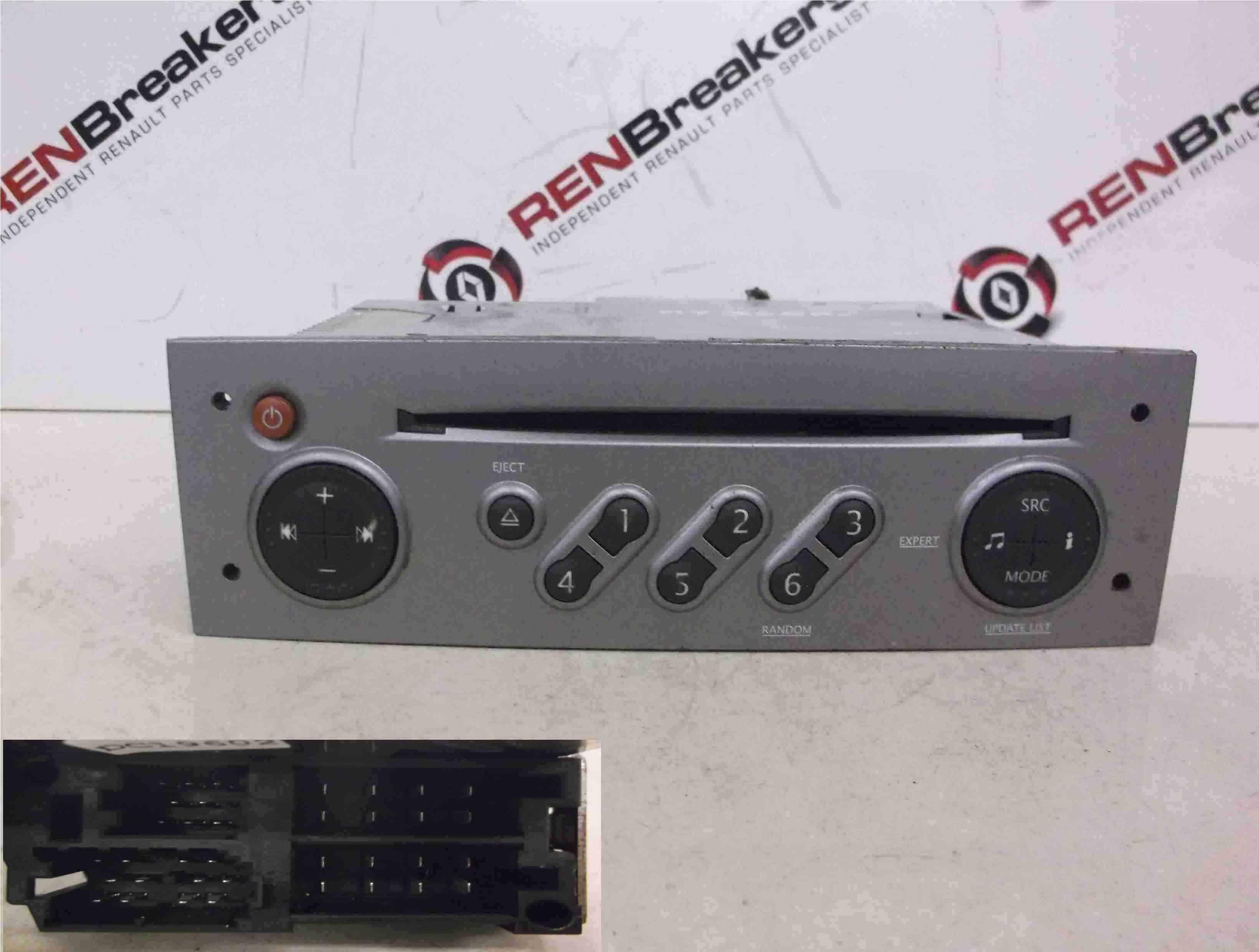 Renault Megane Scenic 2003-2009 Cd Player Radio Update List + Code 8200562686