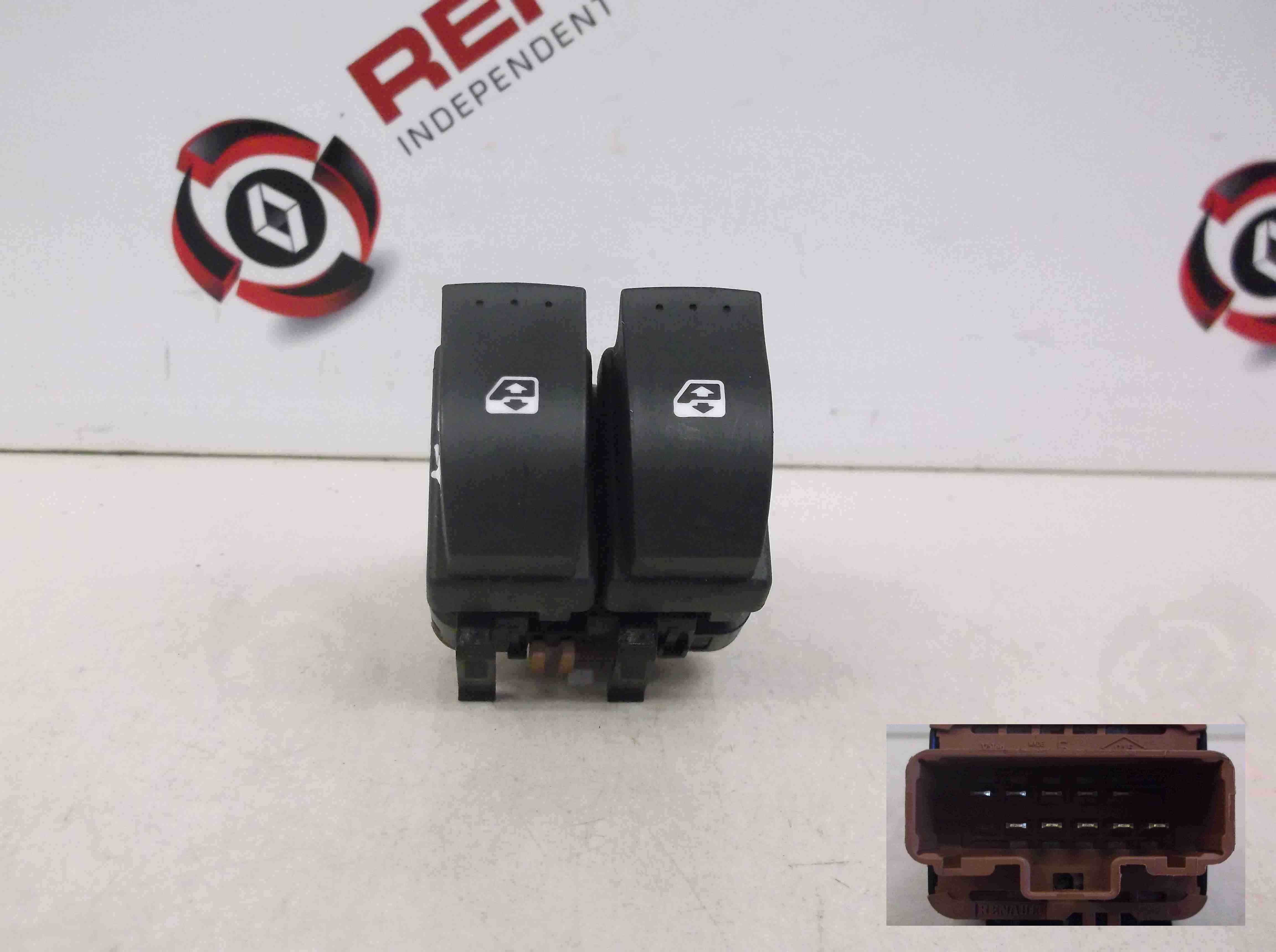 Renault Megane Scenic 2003-2009 Drivers Front OSF Electric Window Switch Brown