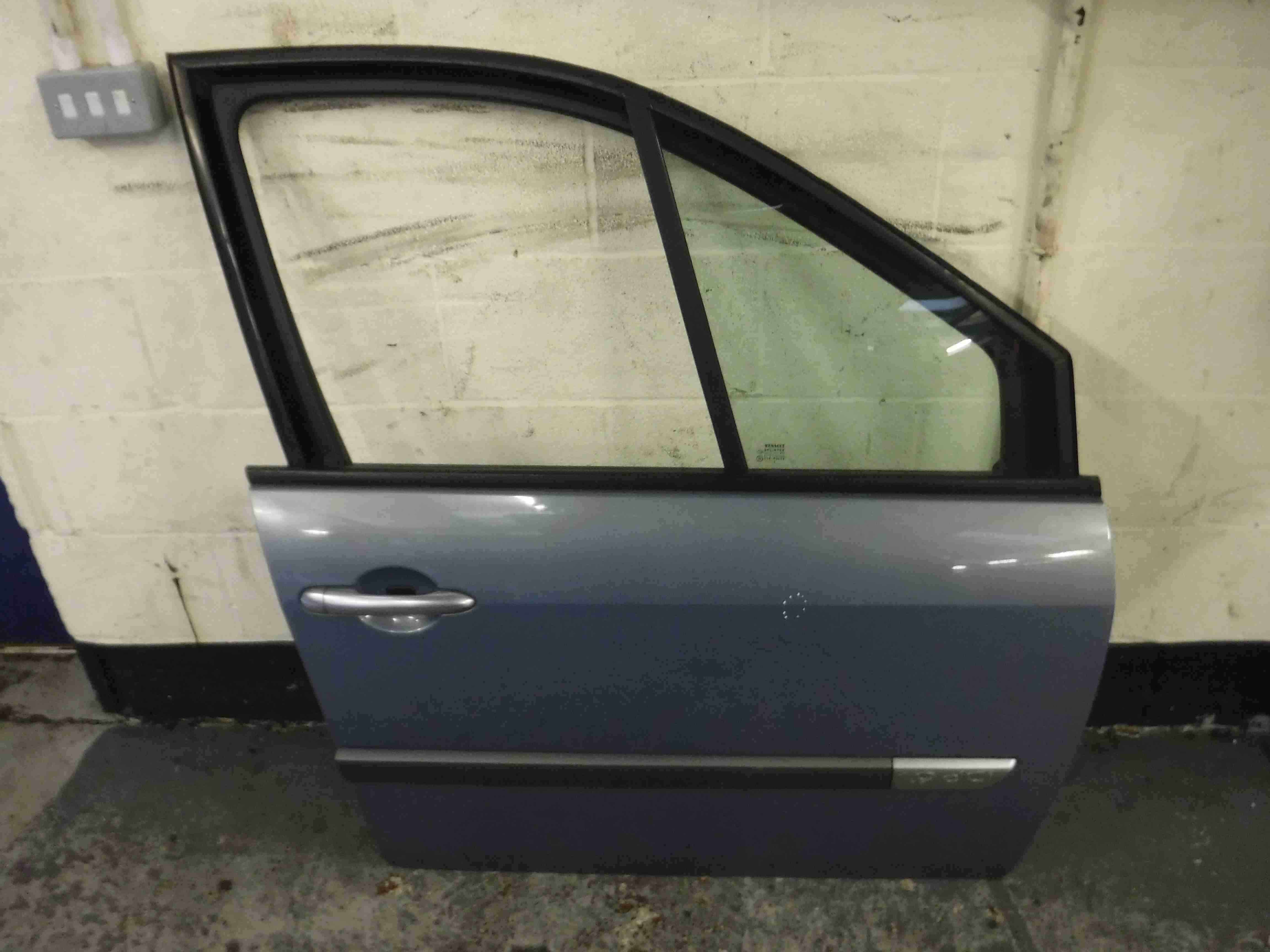 Renault Megane Scenic 2003-2009 Drivers OSF Front Door Blue Purple TED47