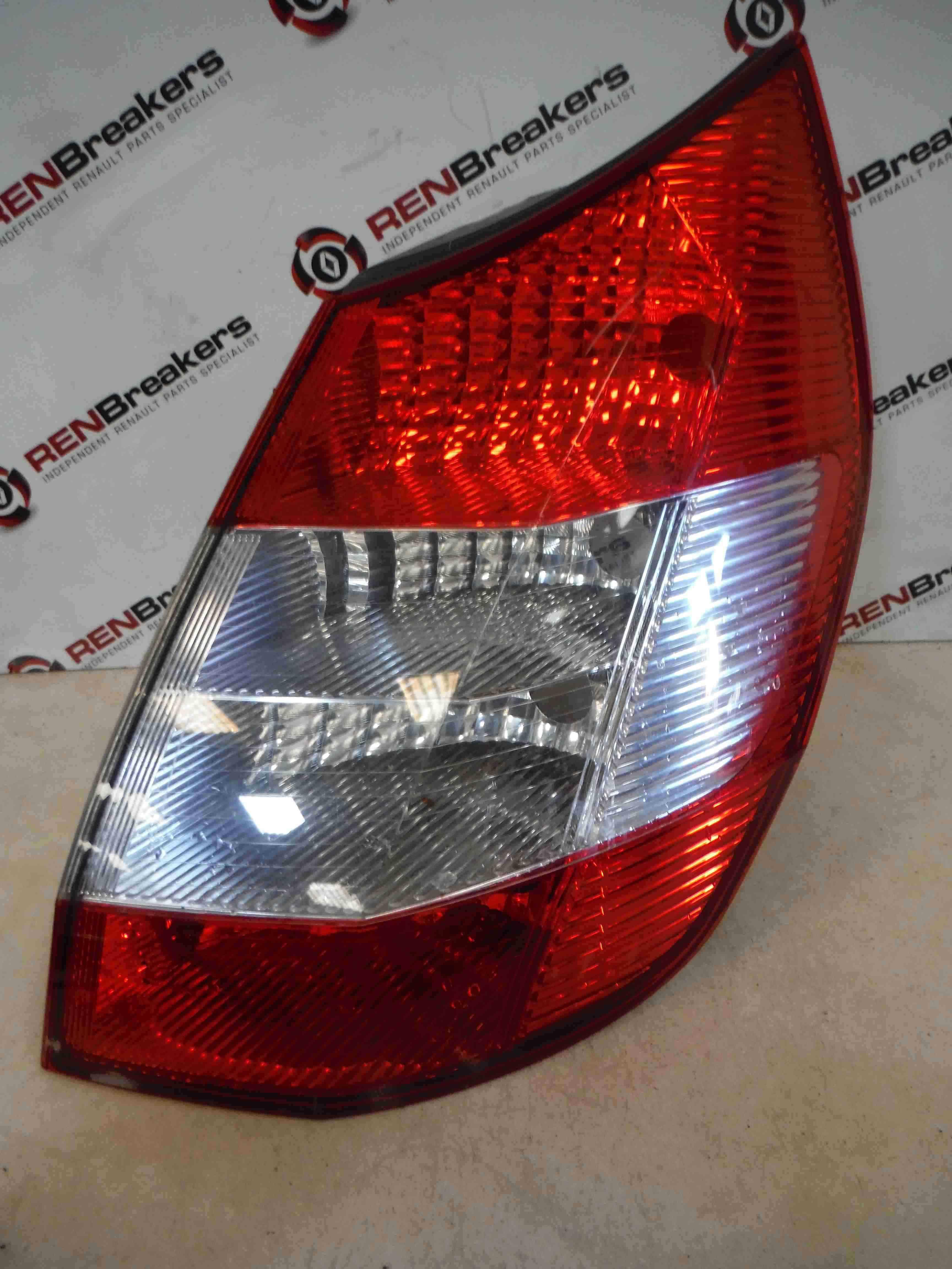 Renault Megane Scenic 2003-2009 Drivers OSR Rear Light Clear Lens 8200493375
