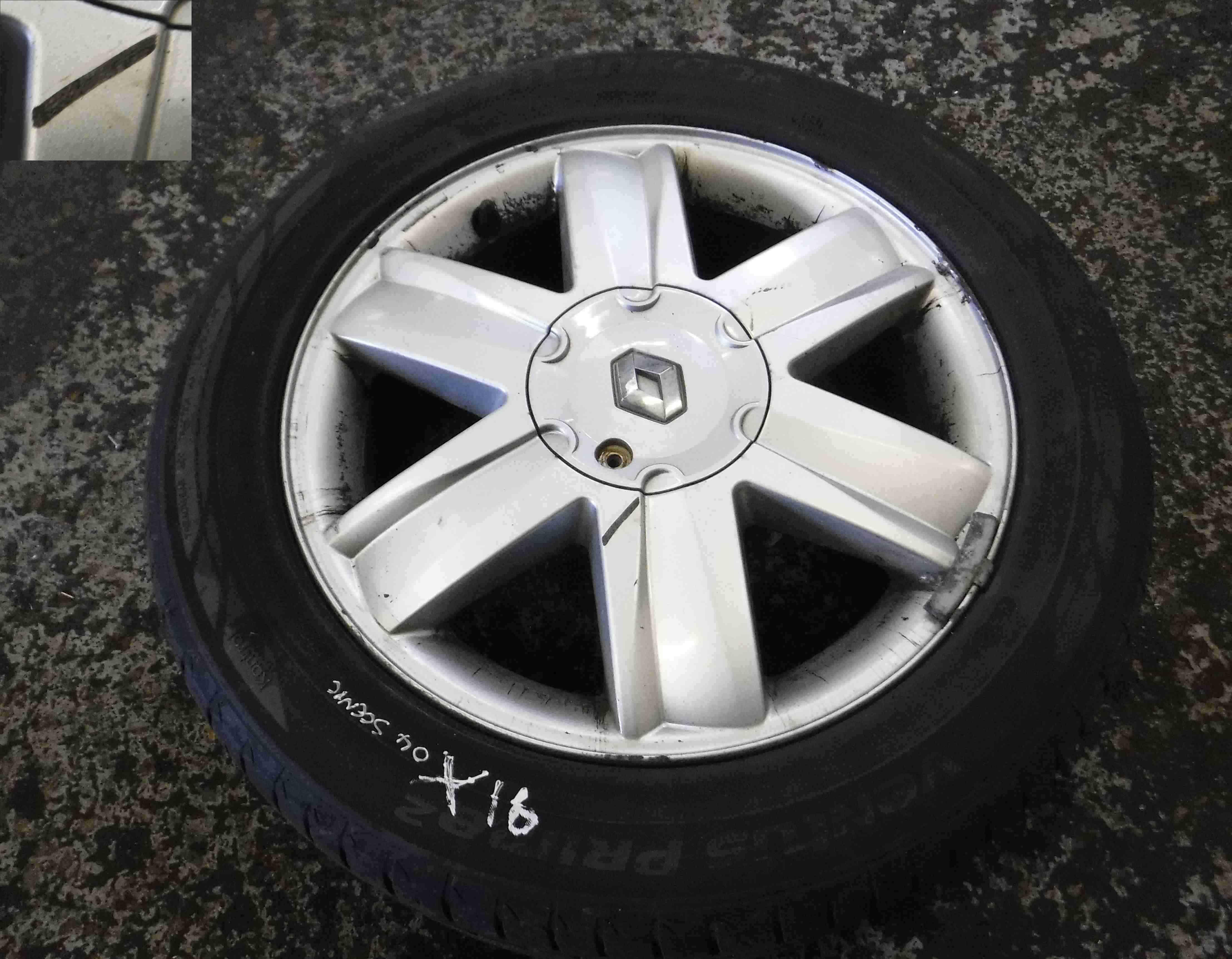 Renault Megane + Scenic 2003-2009 Nervastella Alloy Wheel 16 inch 4/5