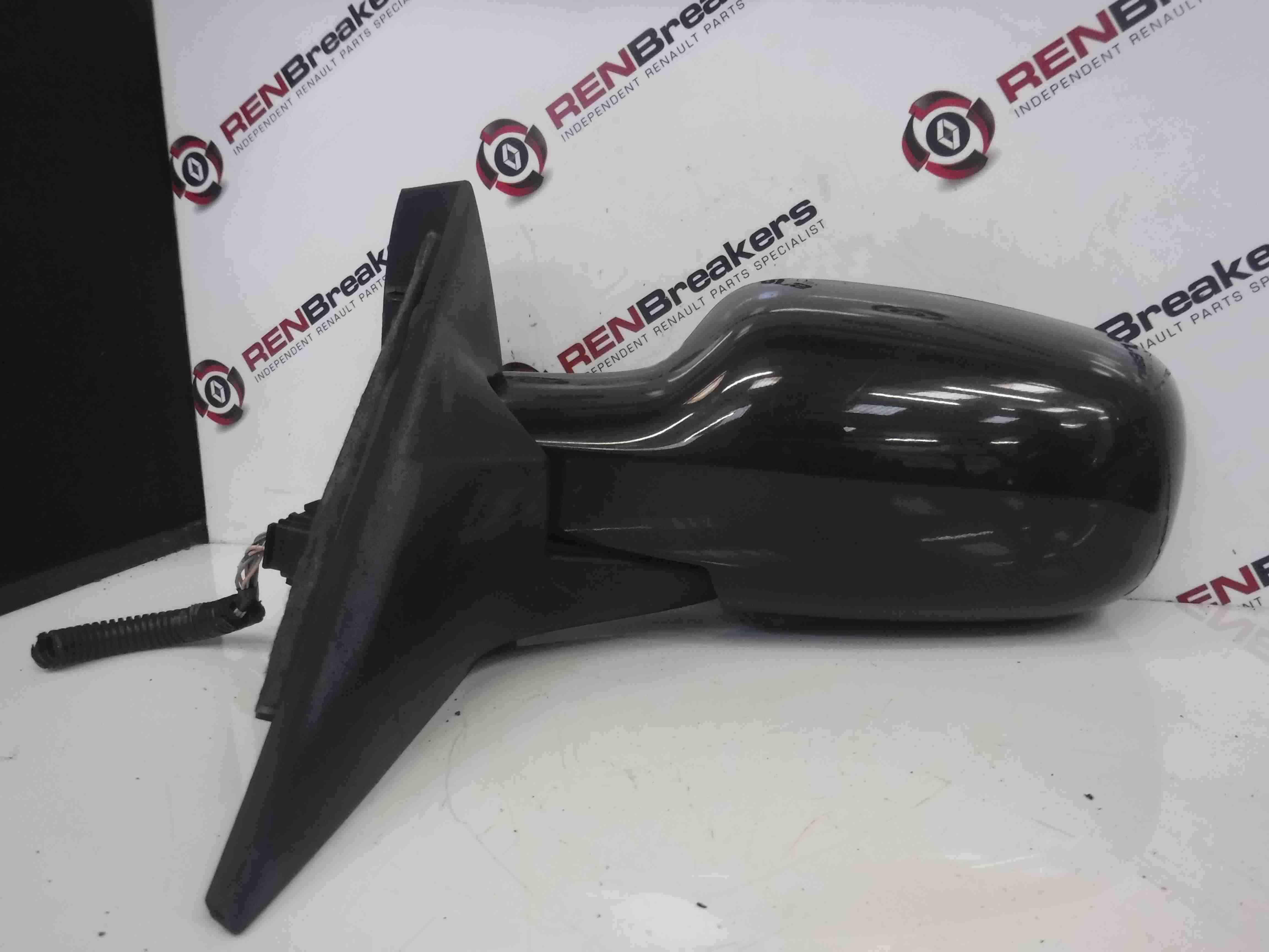 Renault Megane Scenic 2003-2009 Passenger NSF Front Wing Mirror Black 676