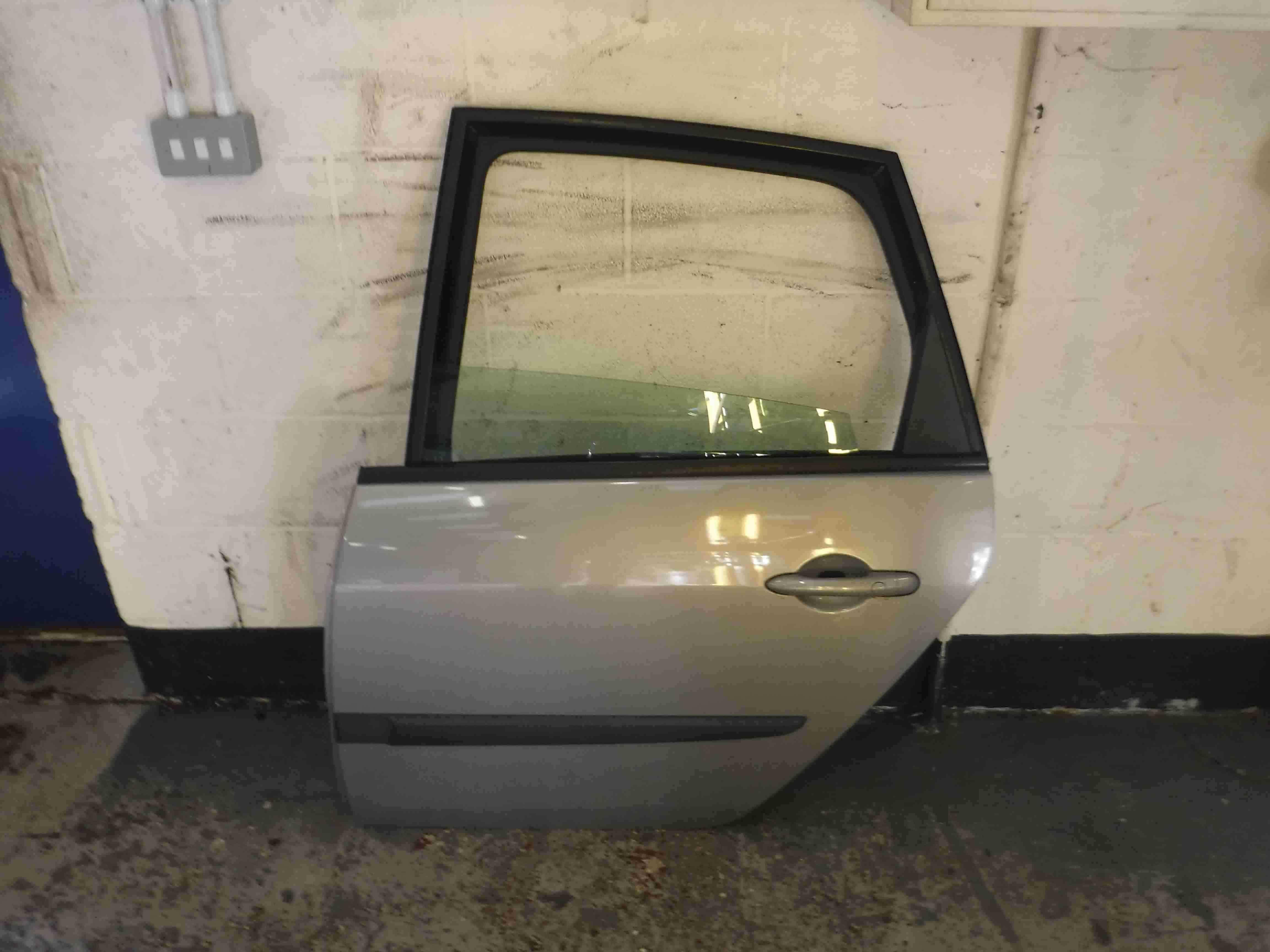 Renault Megane Scenic 2003-2009 Passenger NSR Rear Door Silver TEA19