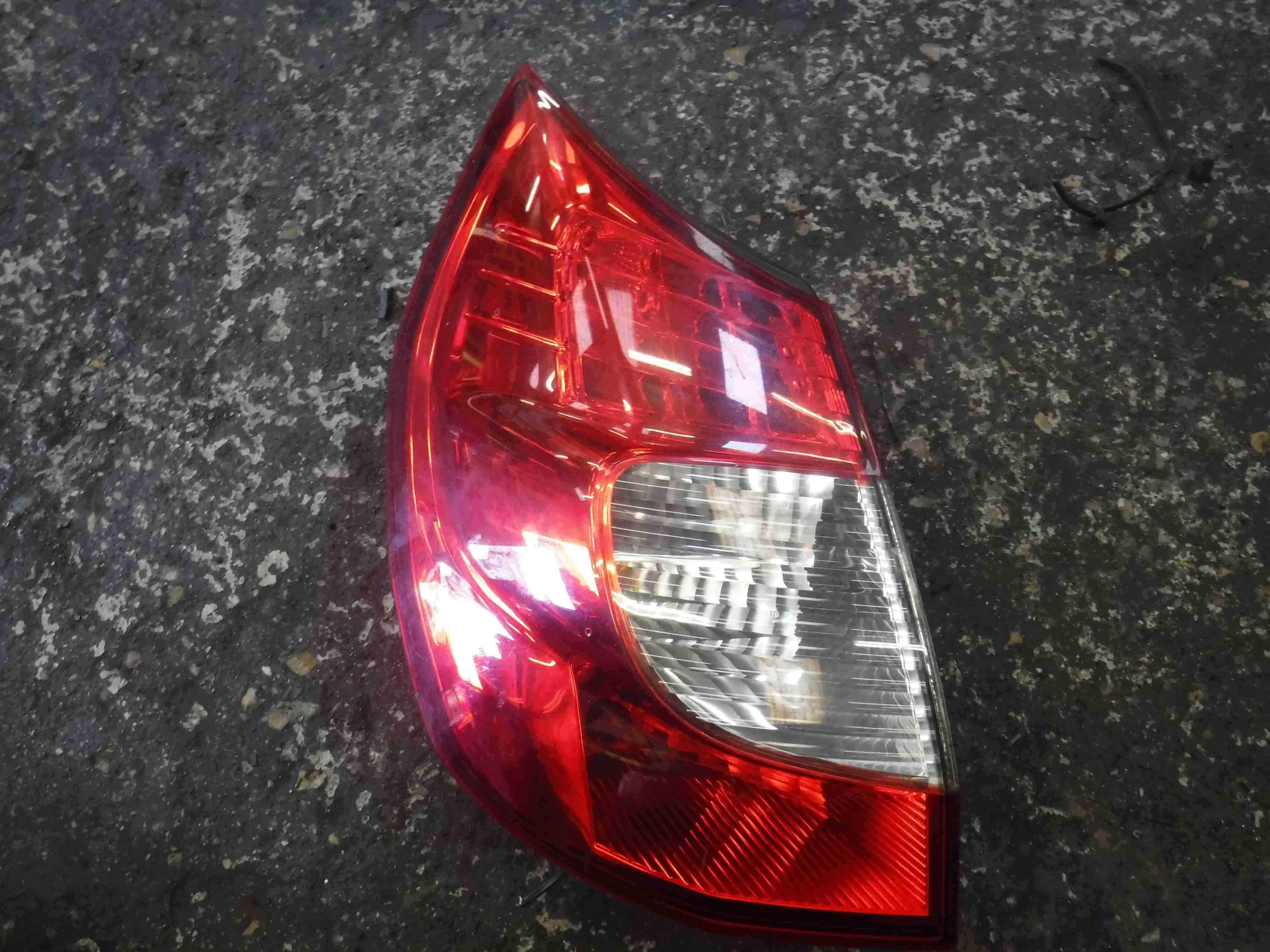 Renault Megane Scenic 2006-2009 Passenger NSR Rear Light Clear FACELIFT