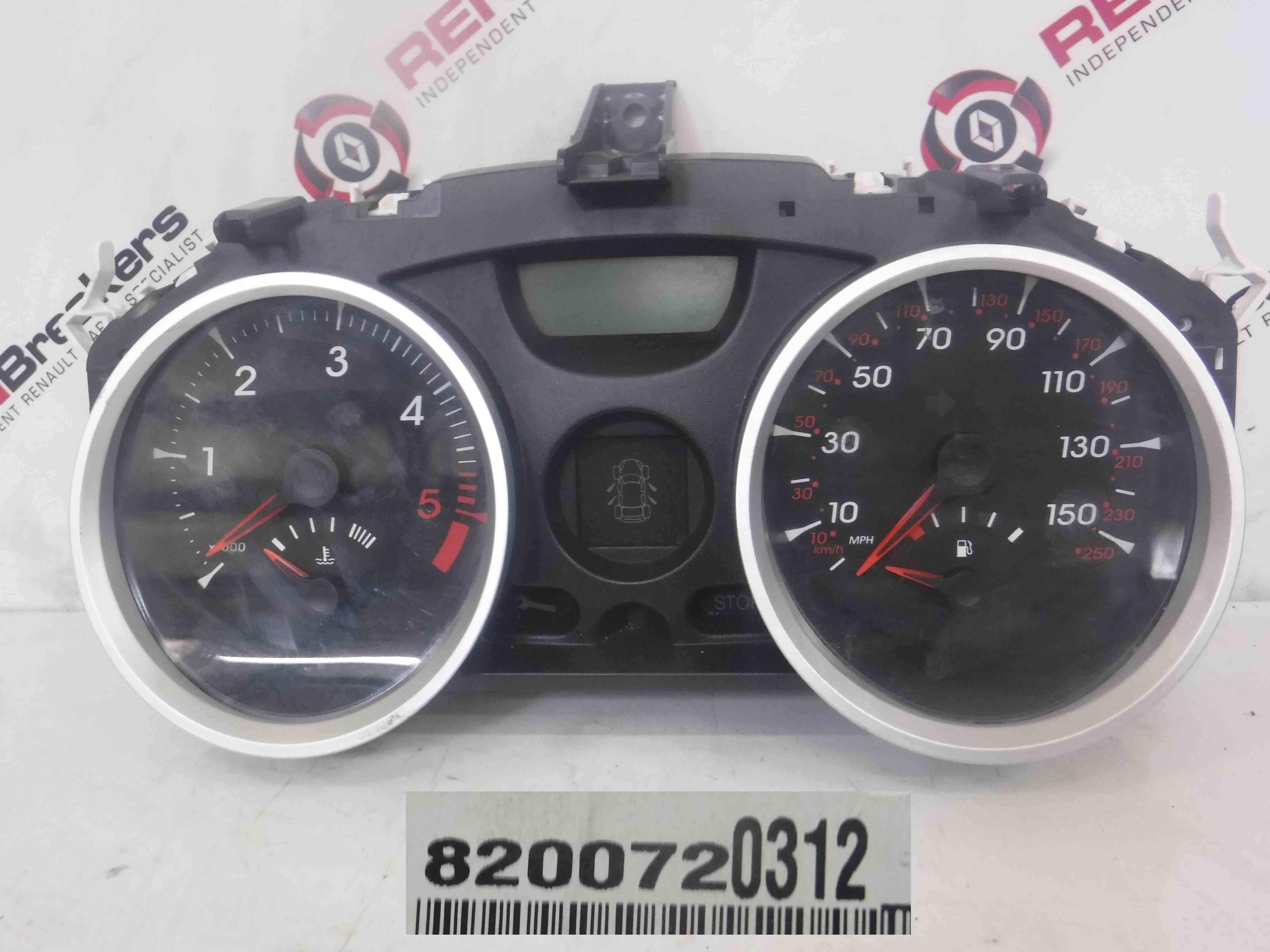 Renault Megane Sport 175 2002-2008 Instrument Panel Dials 8200720312