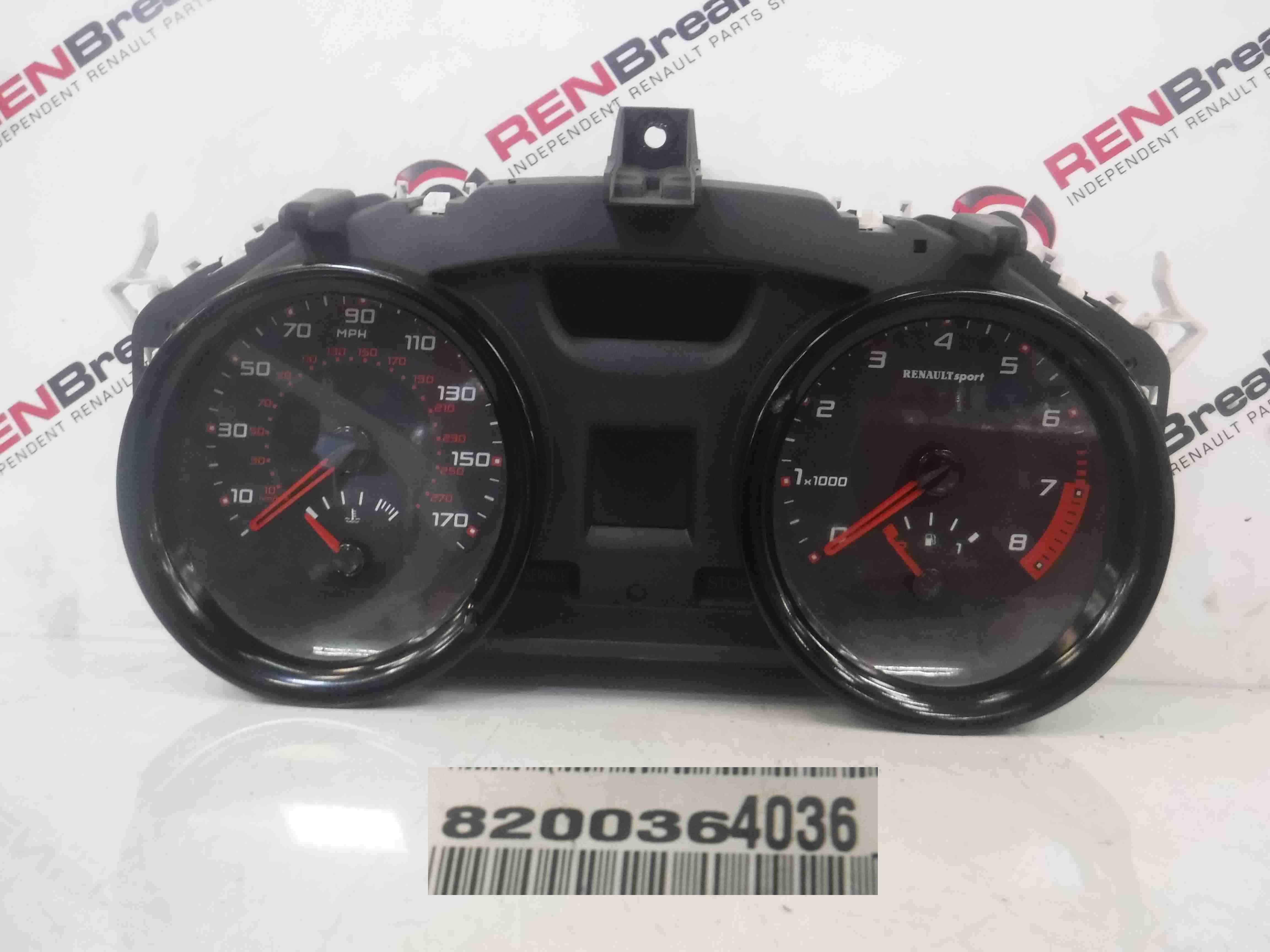 Renault Megane Sport 2002-2008 225 Instrument Panel Dials Gauges Clocks