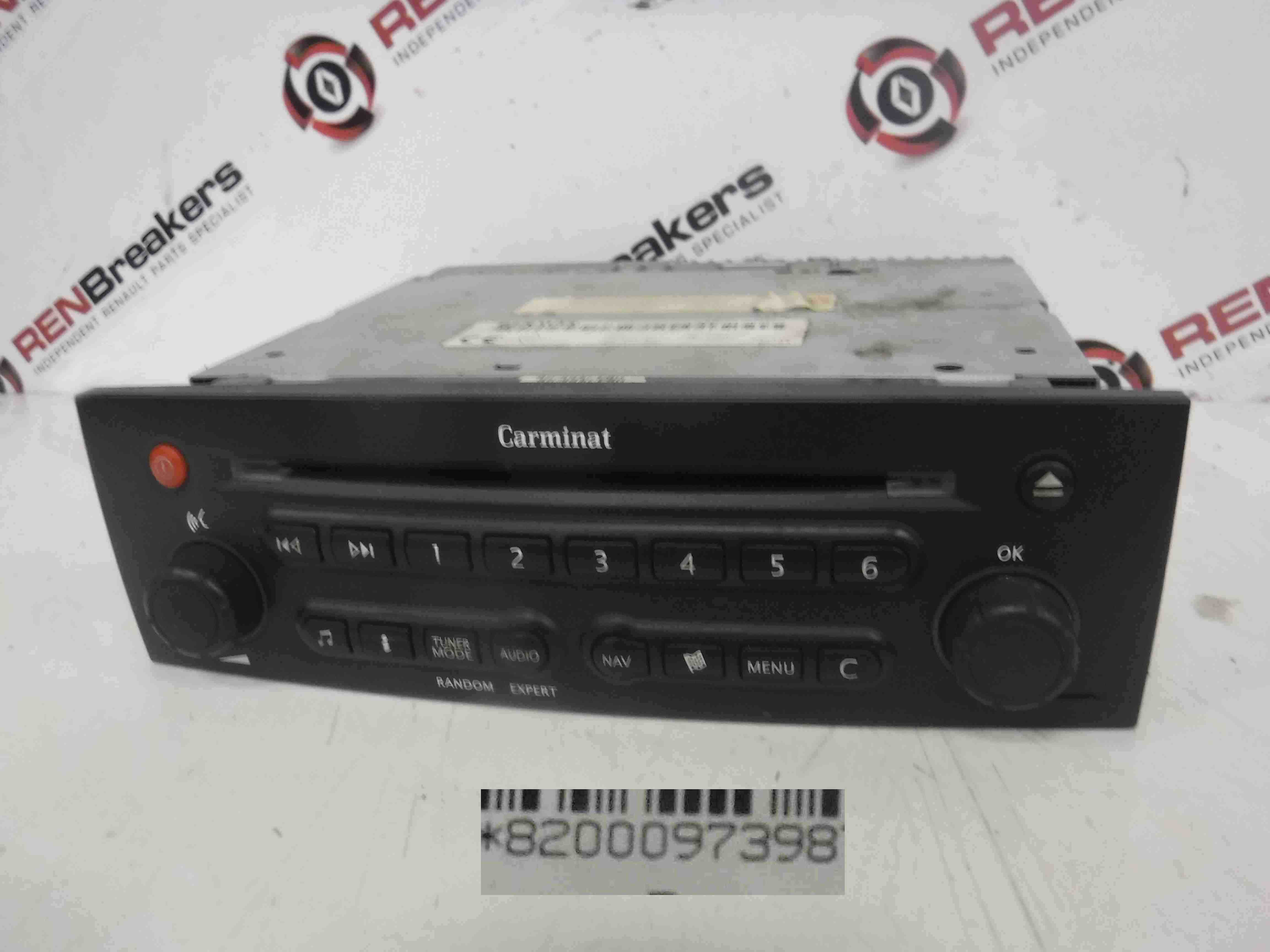 Renault Megane Trafic Laguna 2001-2012 Carminat GPS Sat Nav Radio Player