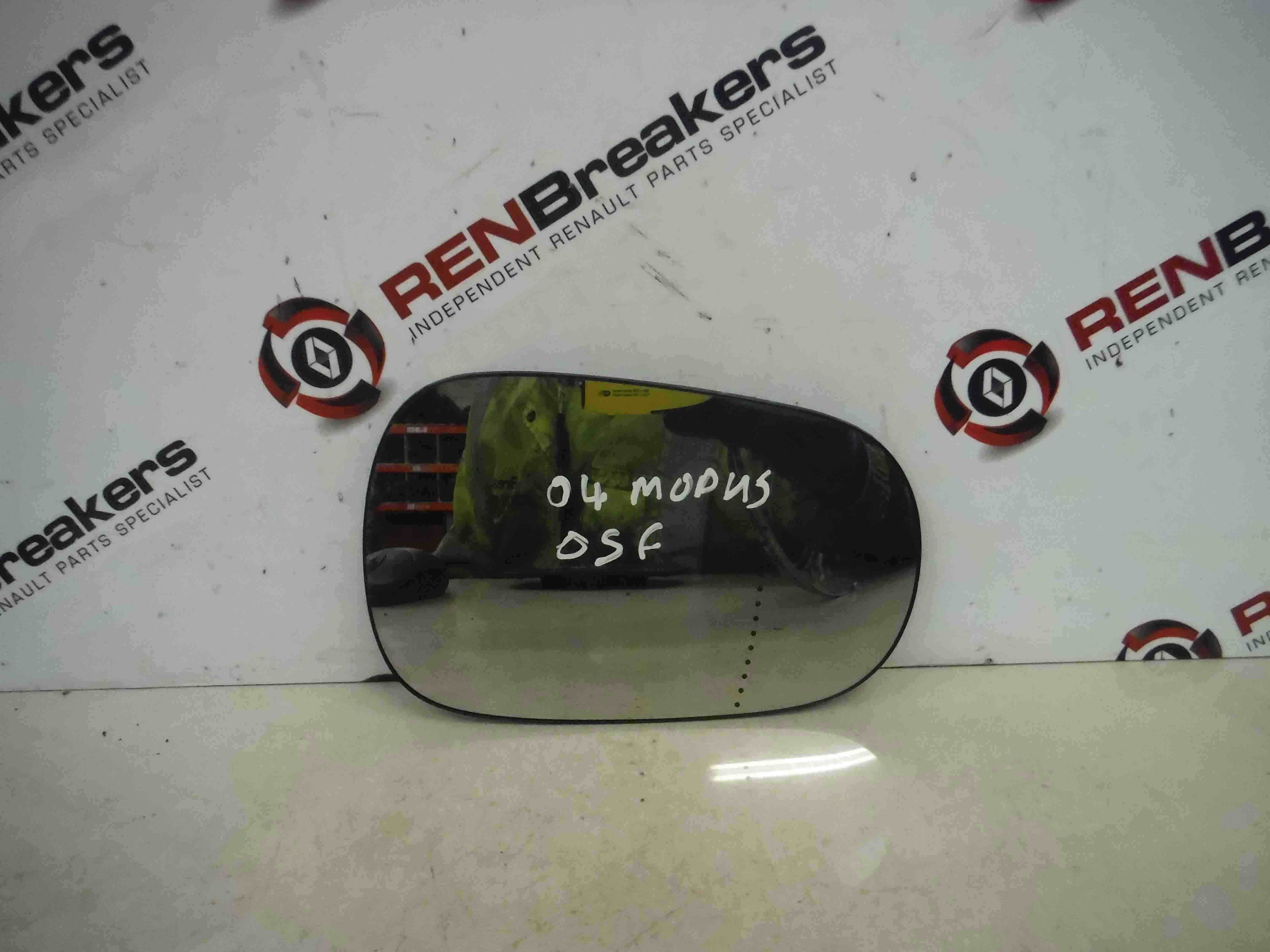Renault Modus 2004-2006 Drivers OS Wing Mirror Glass