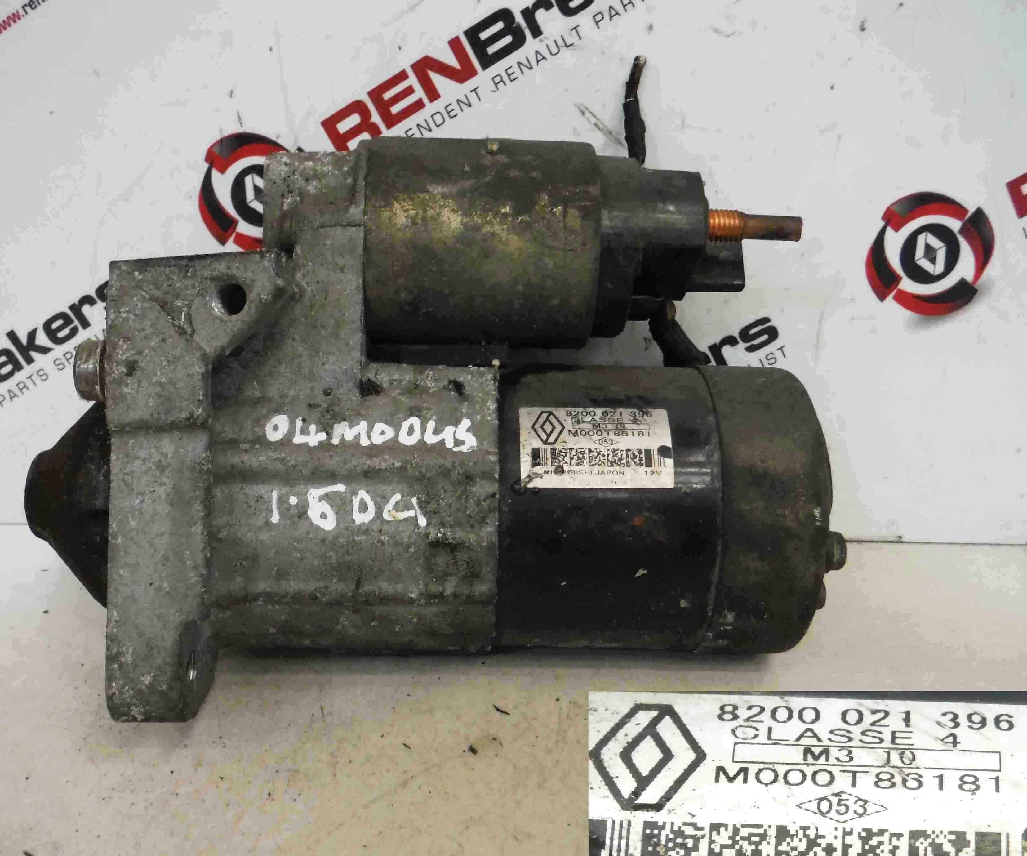 Renault Modus 2004-2008 1.5 dCi Starter Motor Starting 8200021396