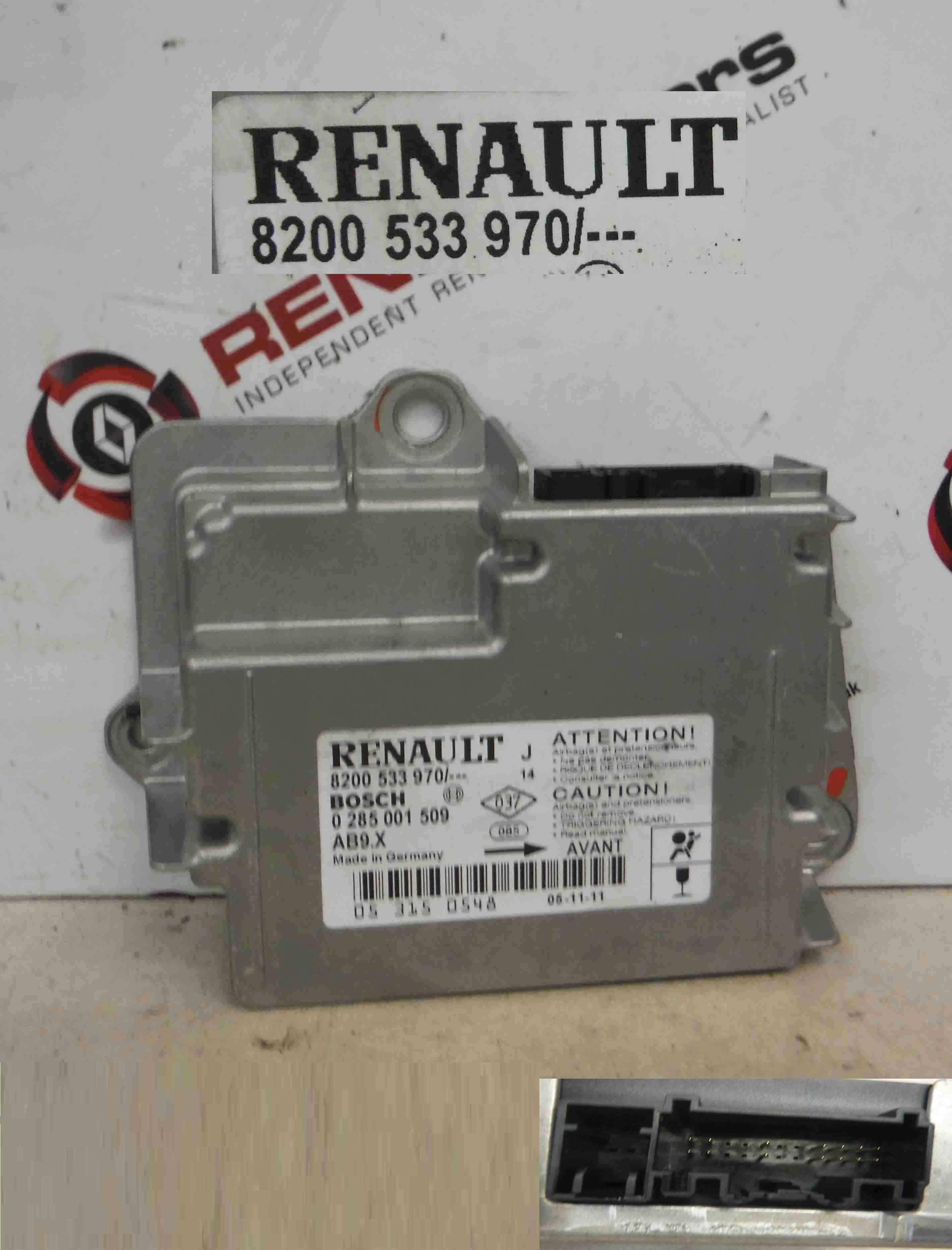 Renault Modus 2004-2008 Airbag ECU Module Computer 8200533970