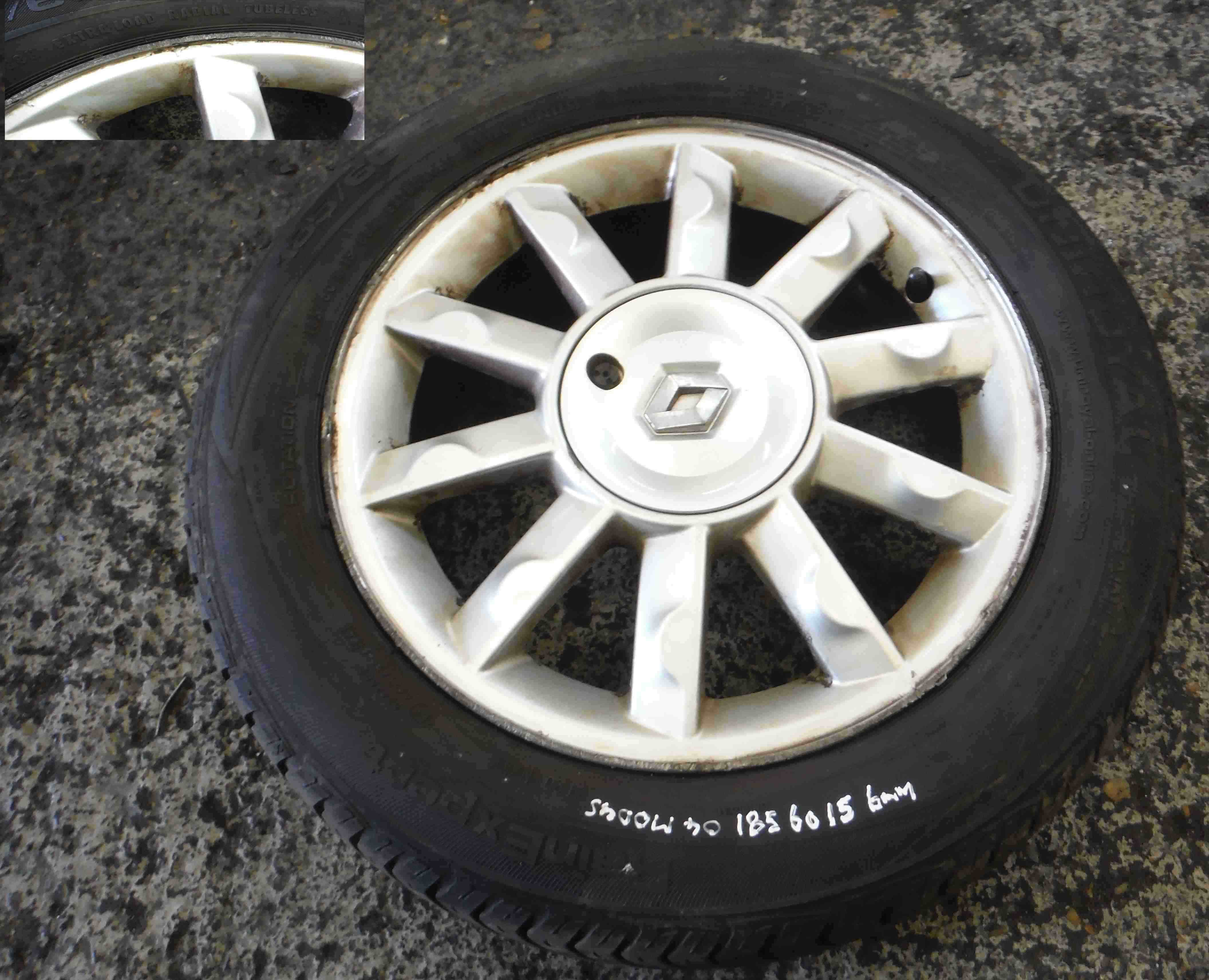Renault Modus 2004-2008 Alloy Wheel Kimono 15inch Tyre + 185 60 15 6mm Tread 4/5