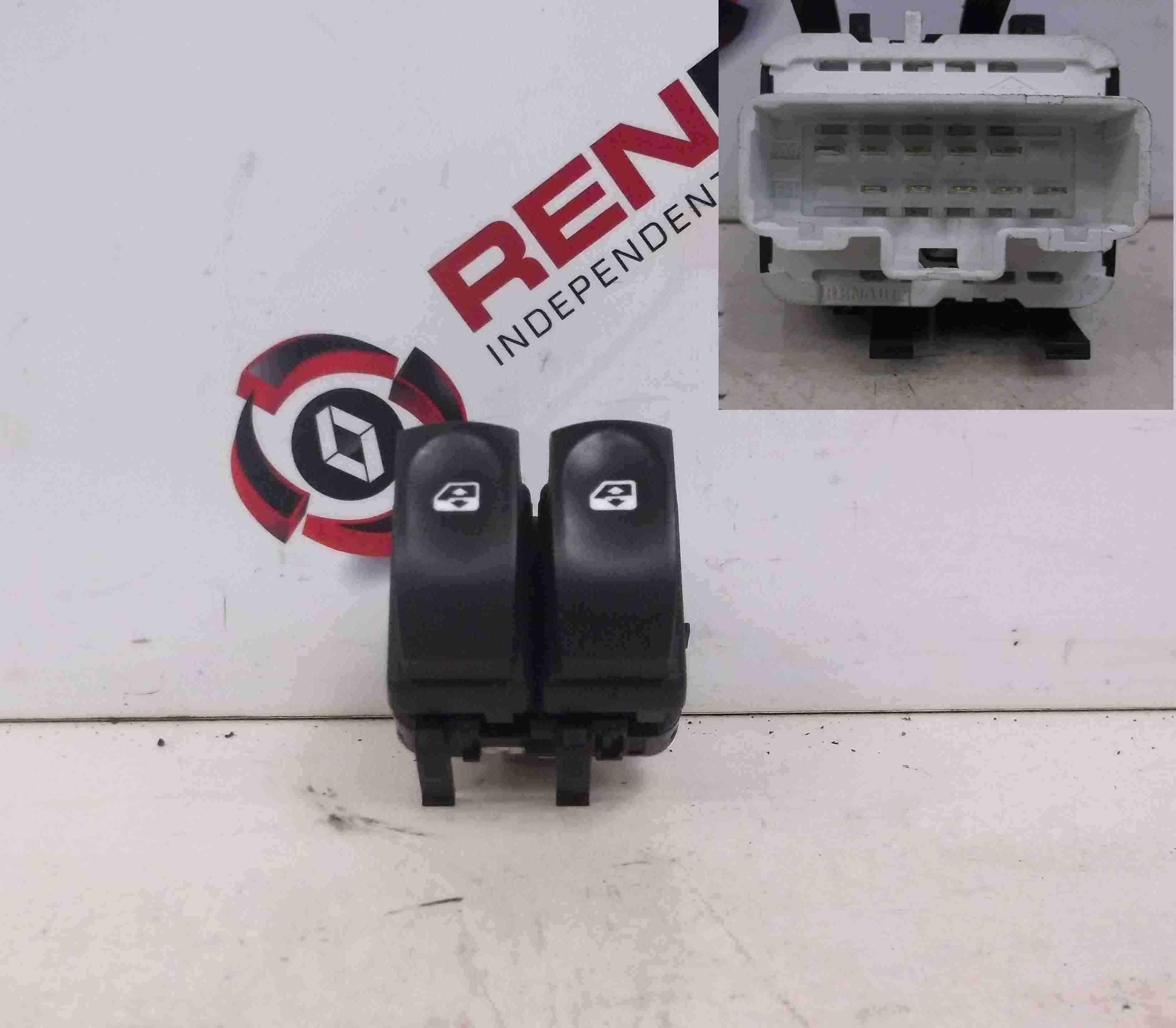 Renault Modus 2004-2008 Drivers OSF Front Window Switch Dual