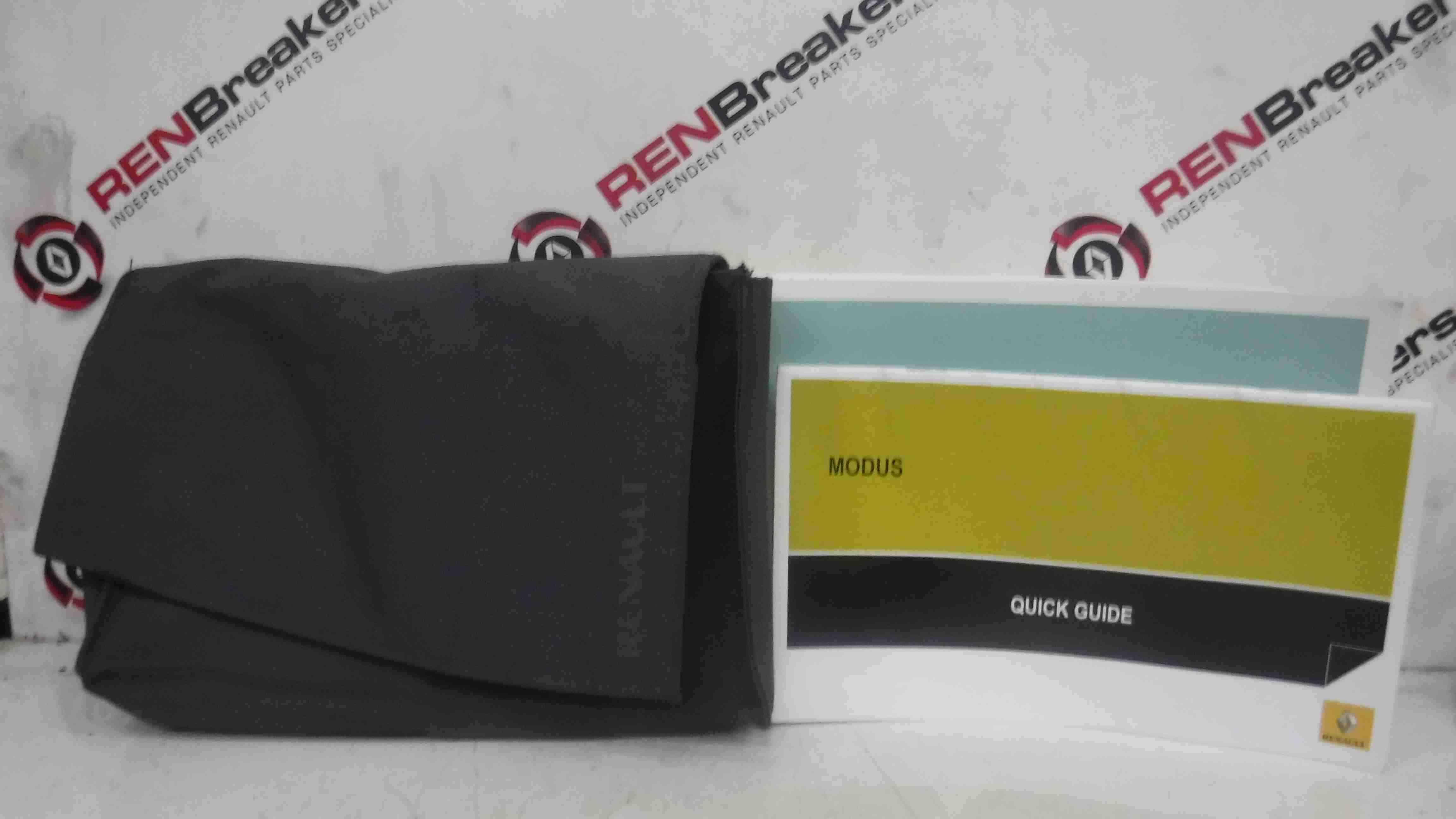 Renault Modus 2004-2008 Handbook Documents Guide + Wallet Holder