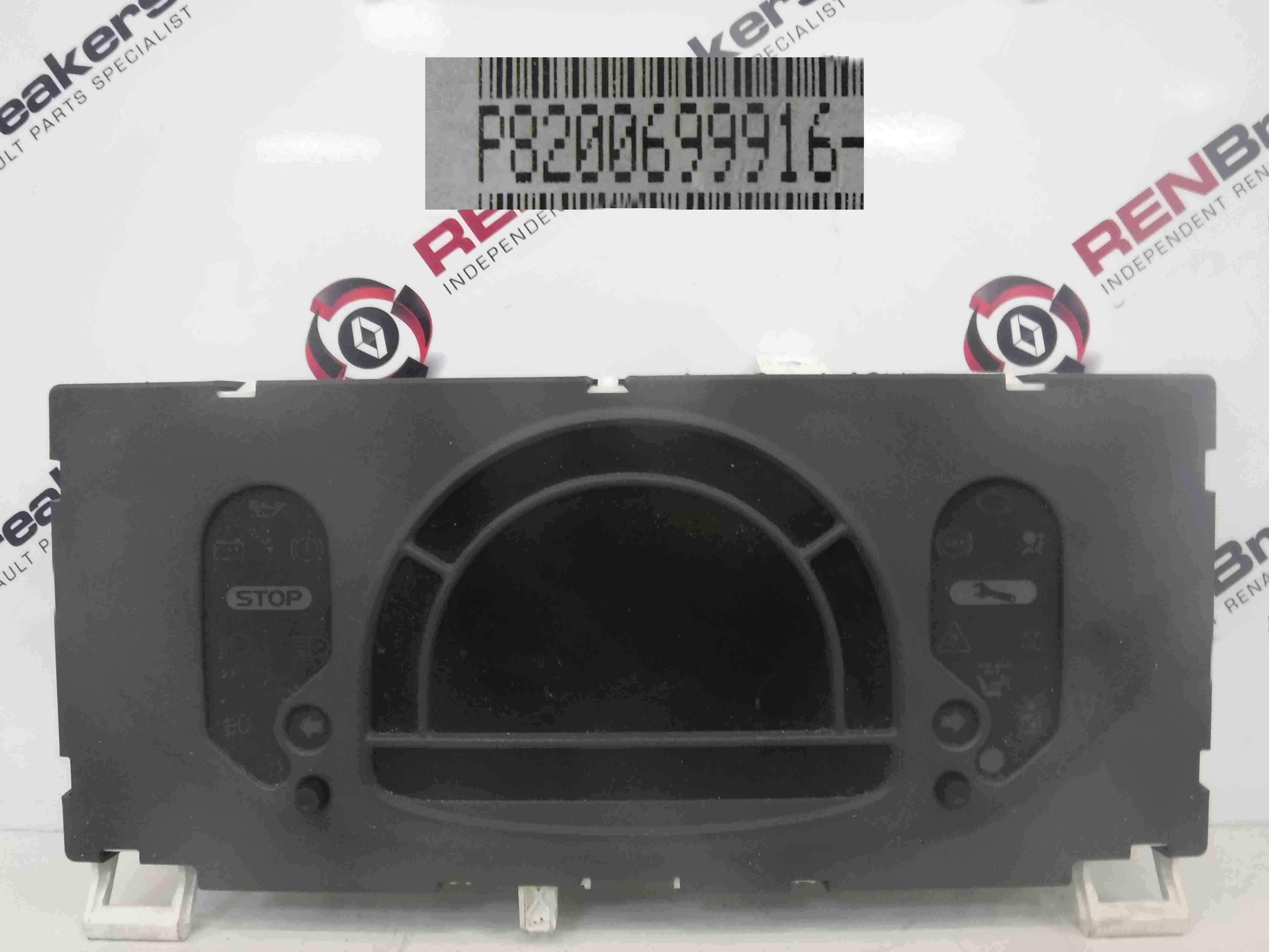 Renault Modus 2004-2008 Instrument Panel Clocks 80K 8200699916