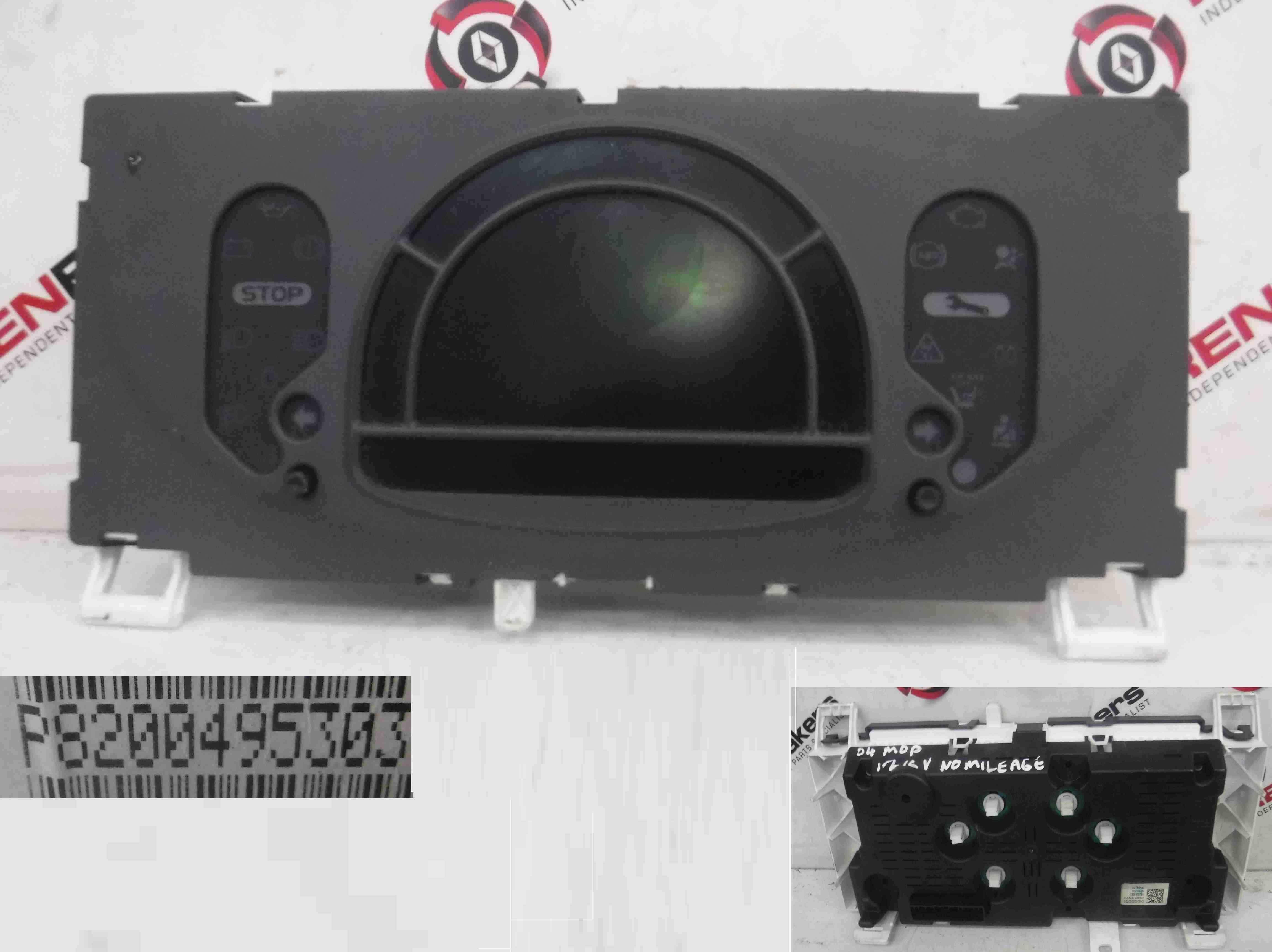 Renault Modus 2004-2008 Instrument Panel Dials Clocks Display 8200495303
