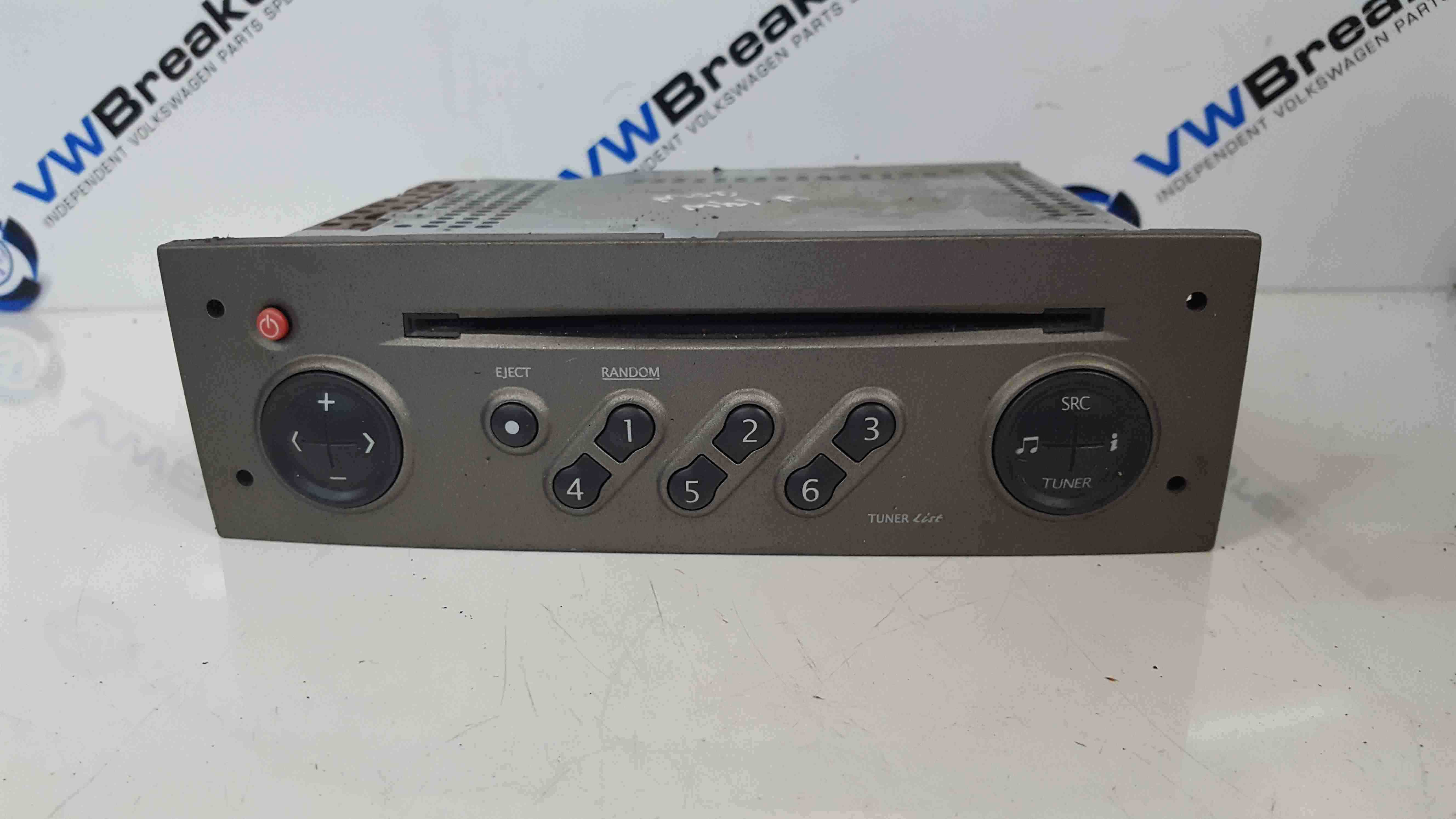 Renault Modus 2004-2008 Radio Cd Player Tuner List Beige Gold With Code