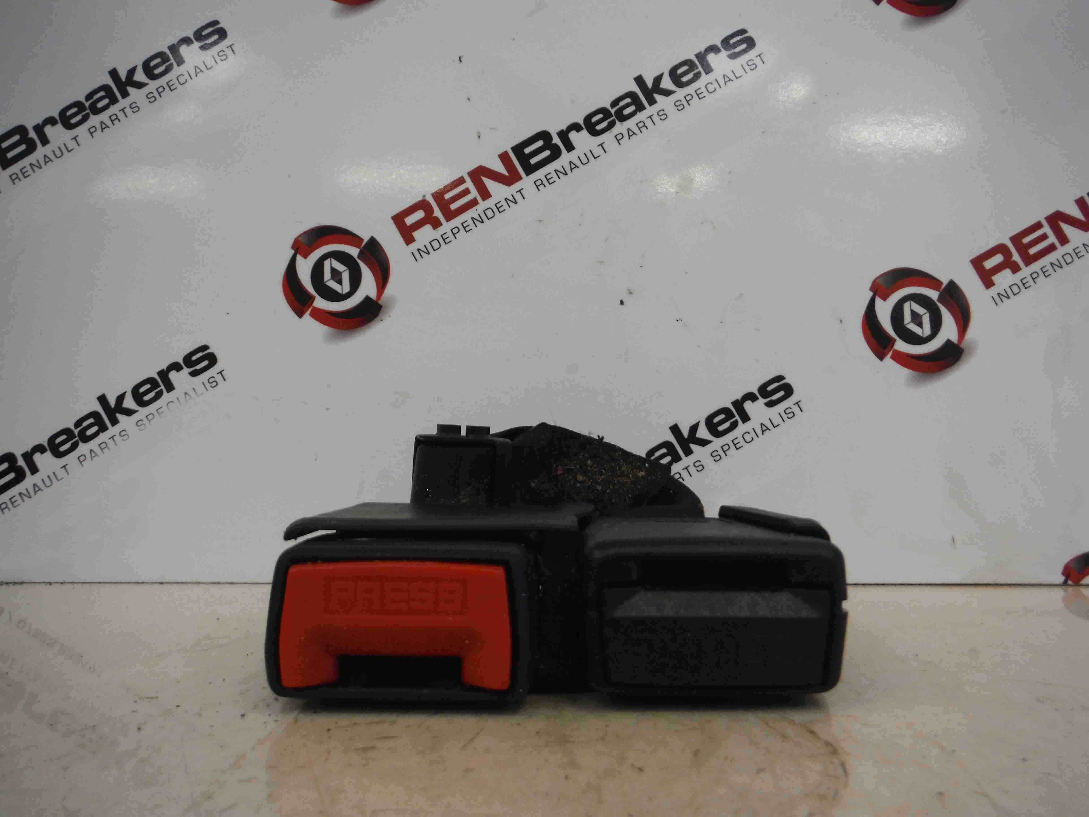 Renault Modus 2004-2008 Rear Seat Belt Buckle Clip Clasp Anchor Red Black